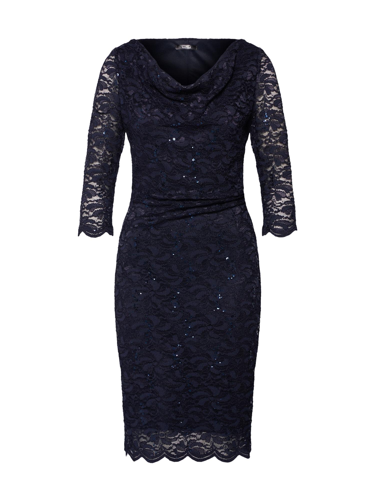 Koktejlové šaty tmavě modrá Vera Mont