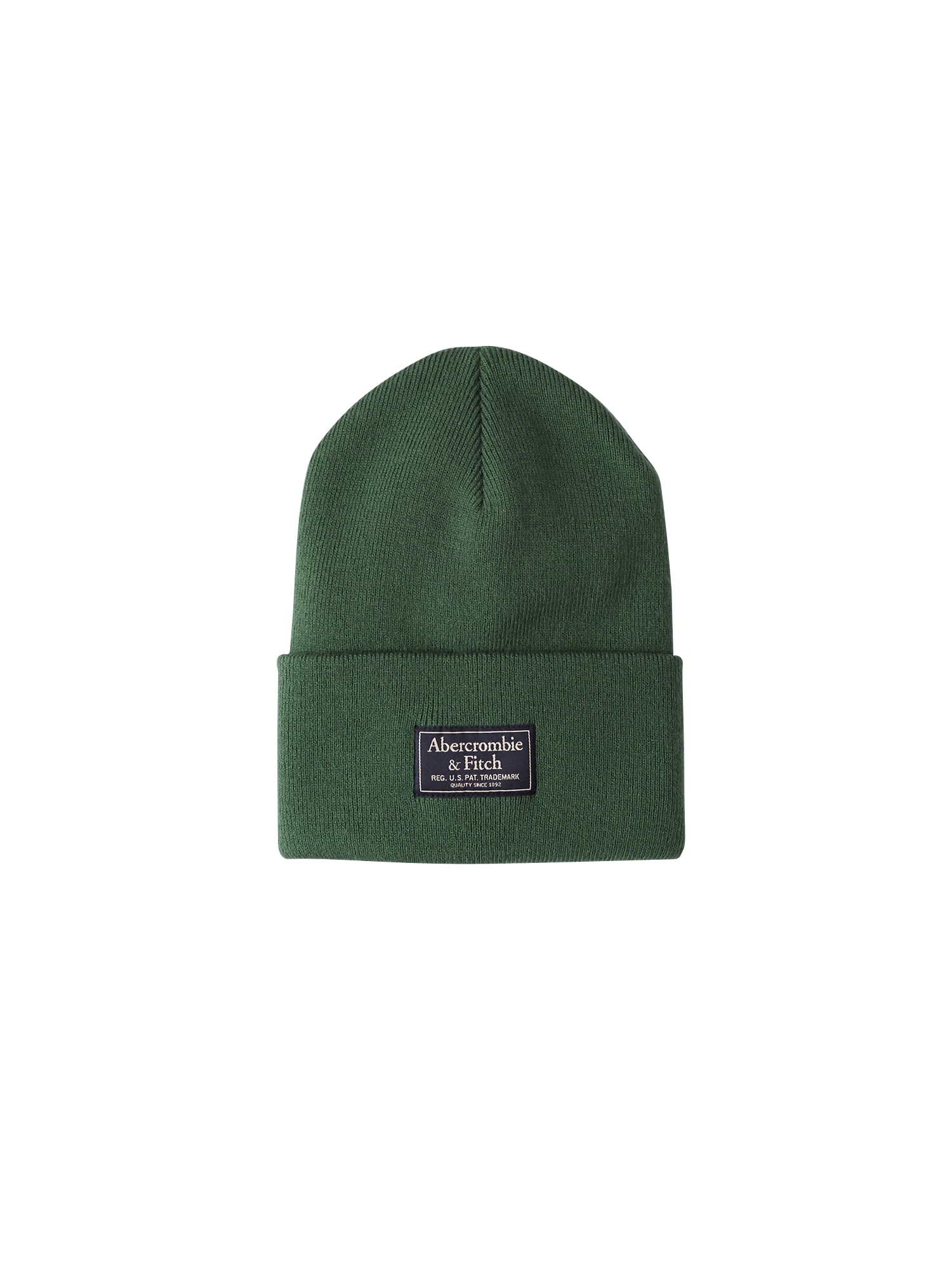 Abercrombie & Fitch, Heren Muts 'BTS18-TURN UP BEANIE COLOR 4CC', navy / groen