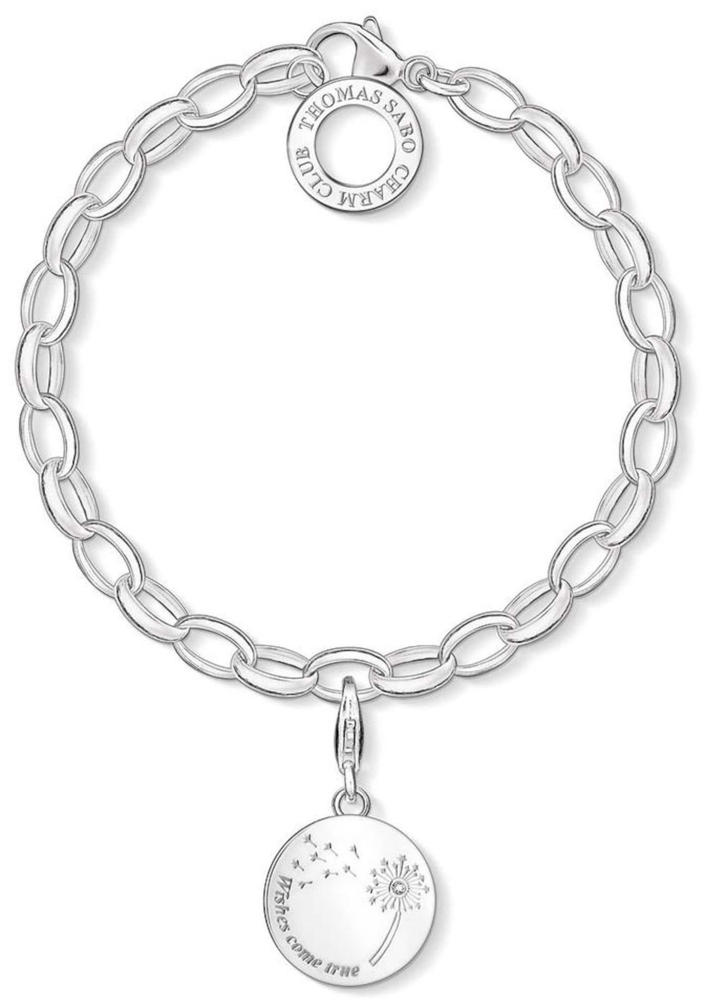 Charm-Armband Set 'Pusteblume WISHES COME TRUE, SET0336-051-14' (Set, 2 tlg.) | Schmuck > Armbänder > Charm-Armbänder | Silber - Weiß | Thomas Sabo