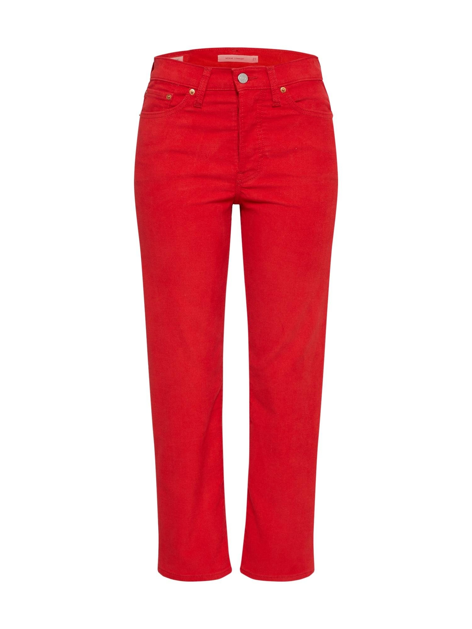 LEVIS Kalhoty Wedgie Straight červená LEVI'S