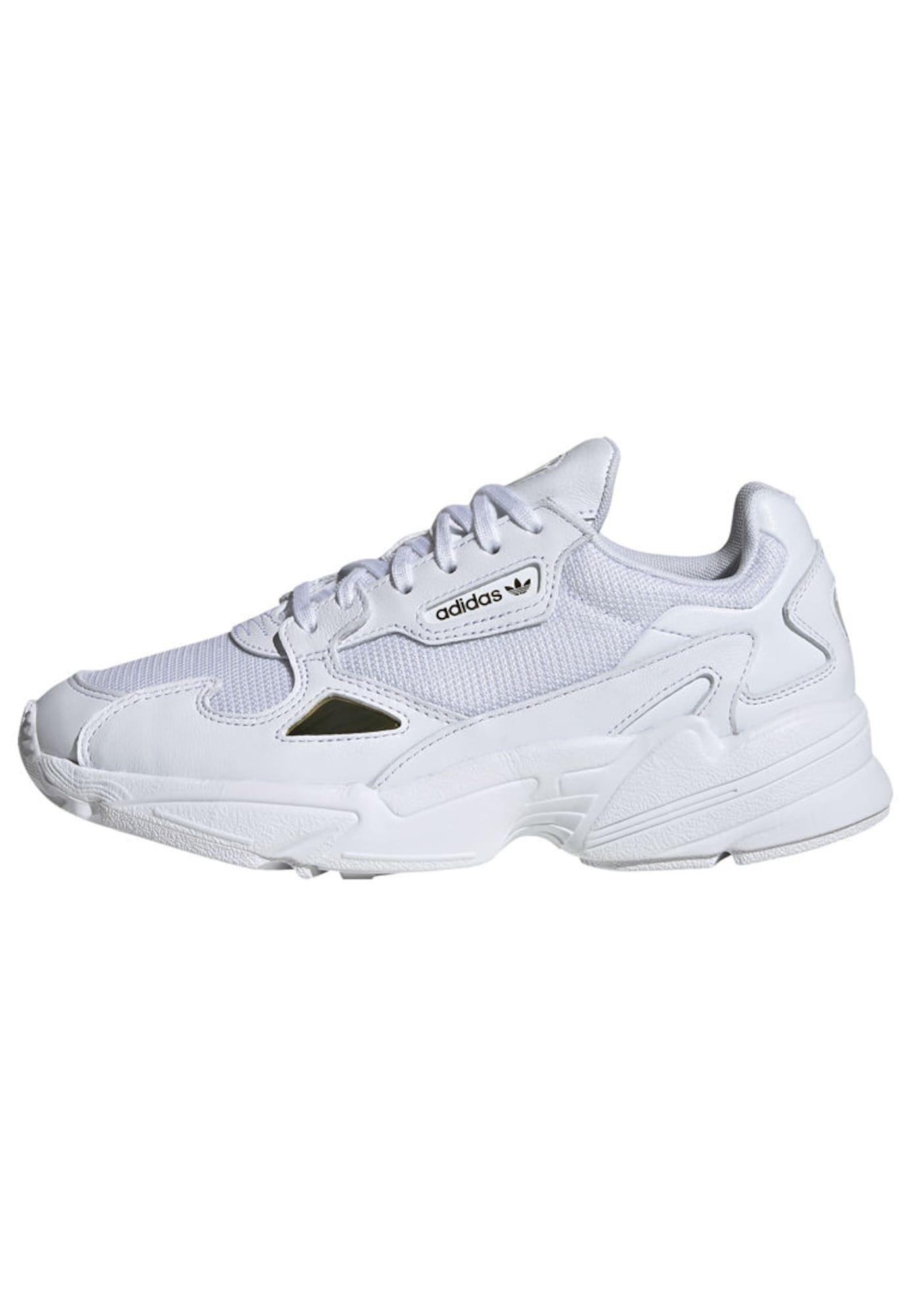 ADIDAS ORIGINALS, Dames Sneakers laag 'Falcon', goud / wit
