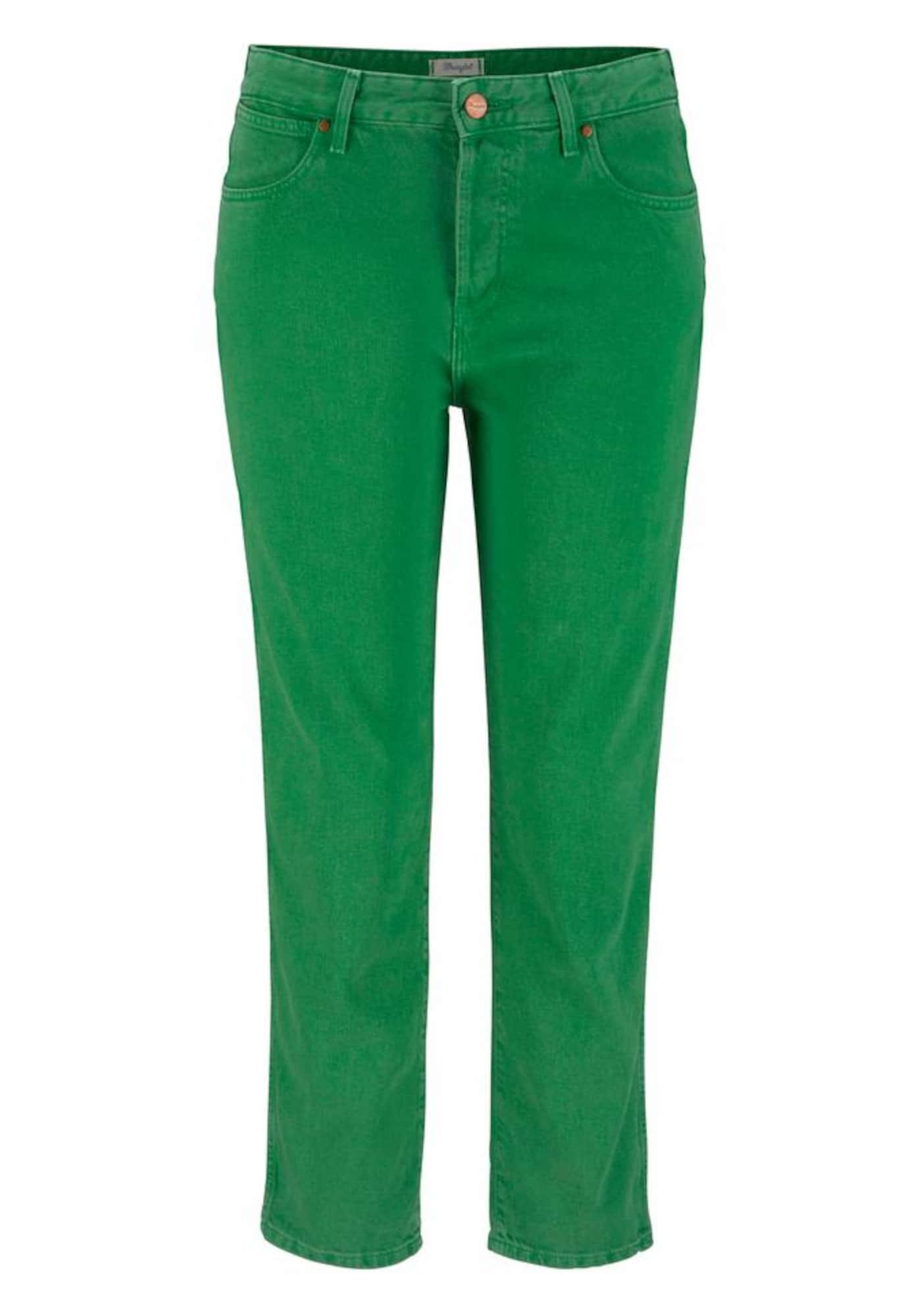 WRANGLER Dames Jeans groen
