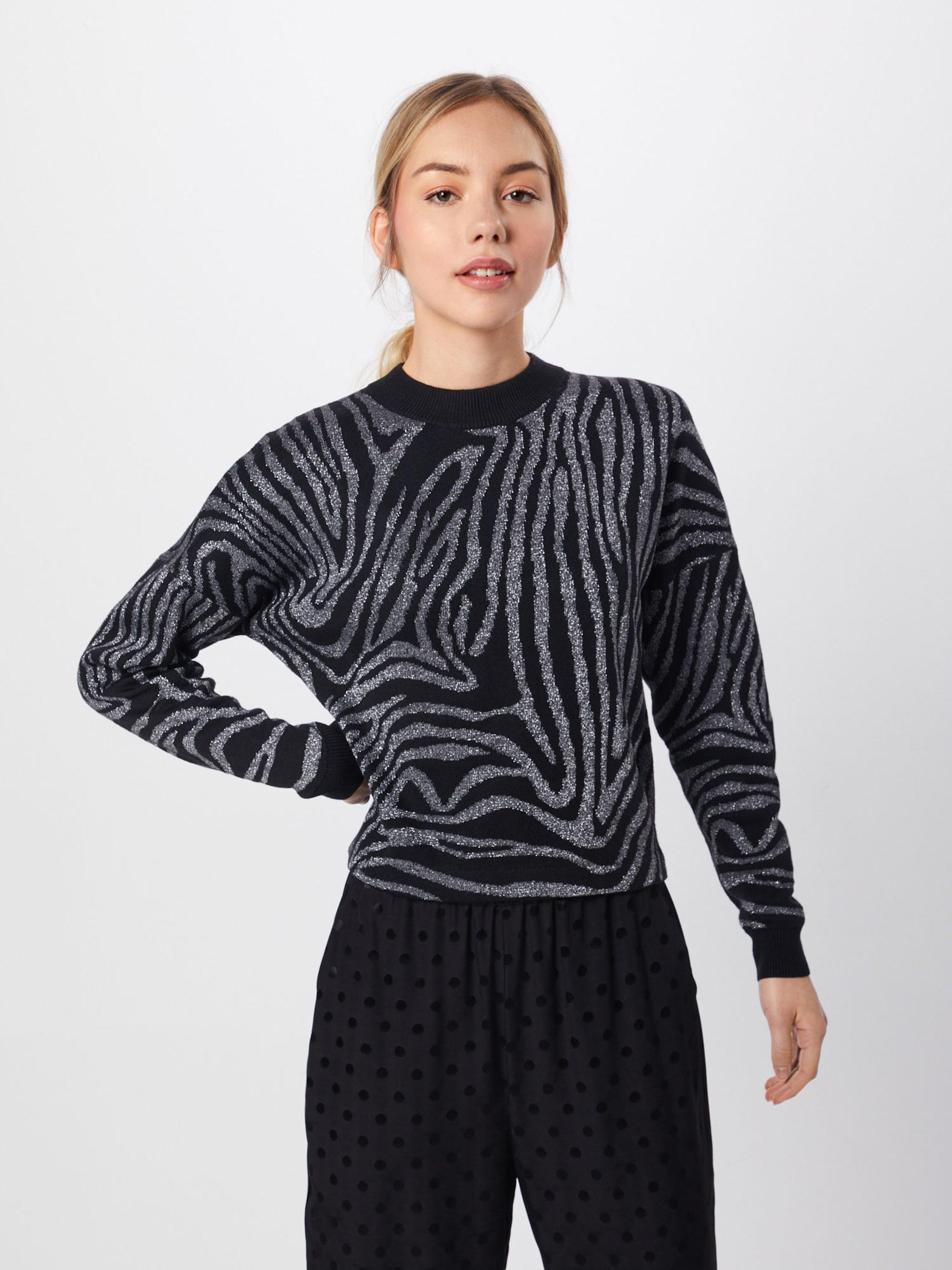 Trui 'Zebra lurex print jumper'