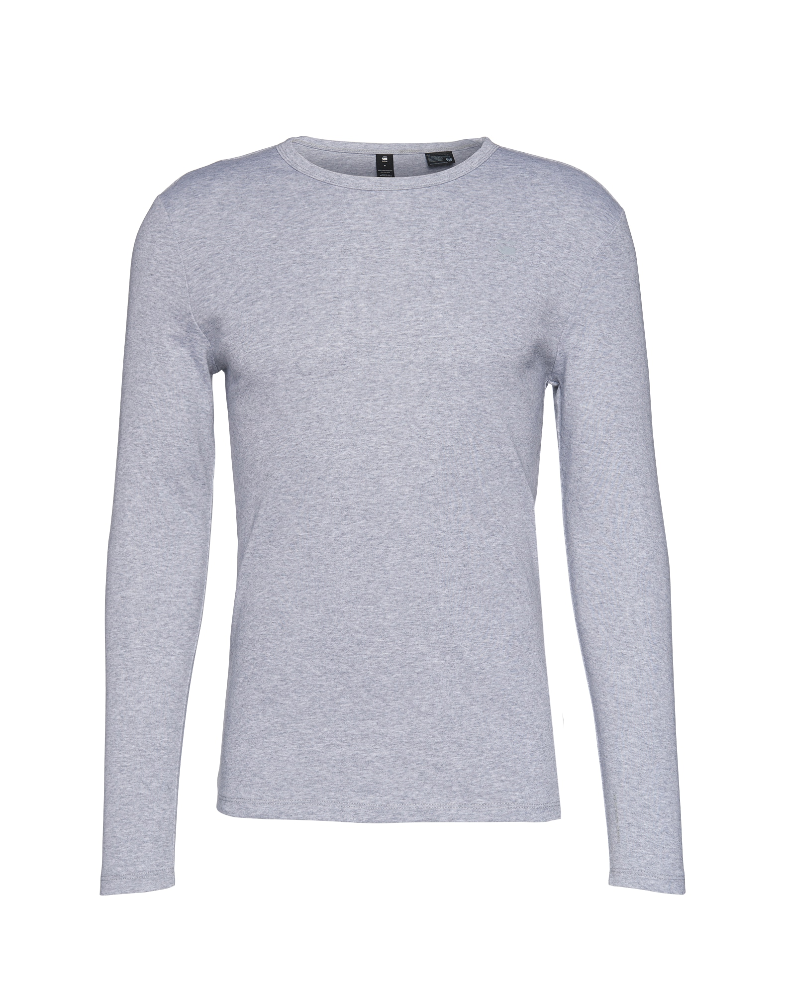Tričko Base R T LS šedý melír G-STAR RAW