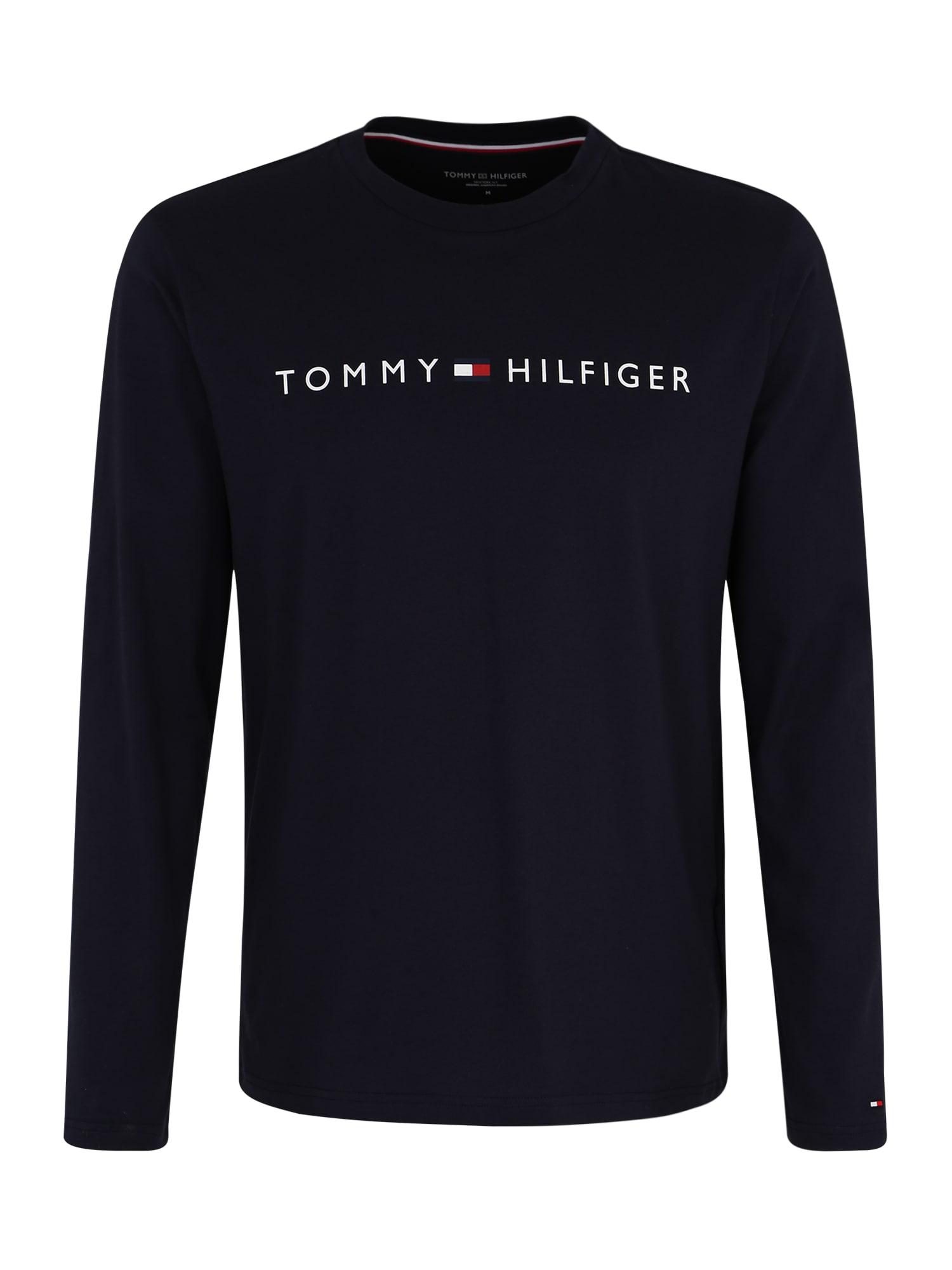Pyžamo dlouhé CN LS TEE LOGO námořnická modř Tommy Hilfiger Underwear