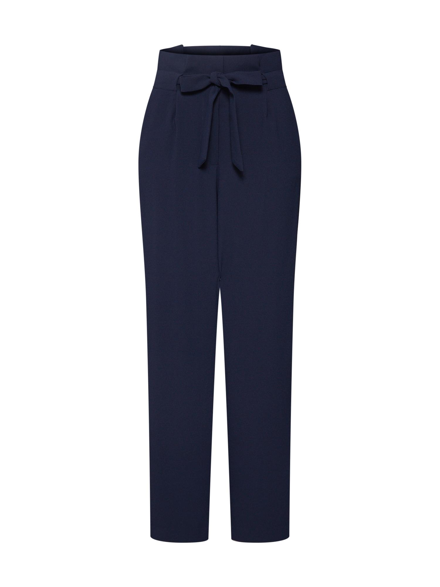 Kalhoty se sklady v pase Fia noční modrá ONLY