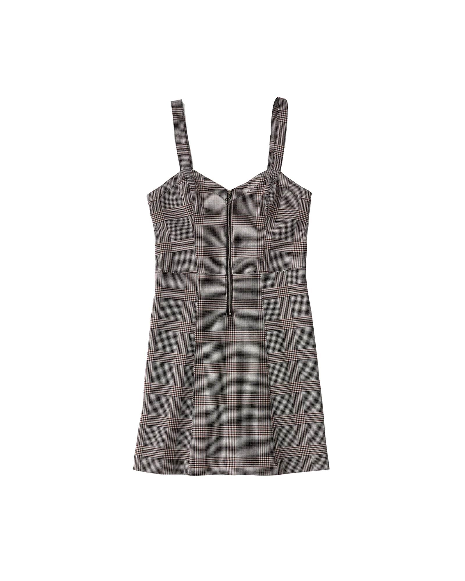 Šaty ZIP UP PINAFORE čedičová šedá Abercrombie & Fitch