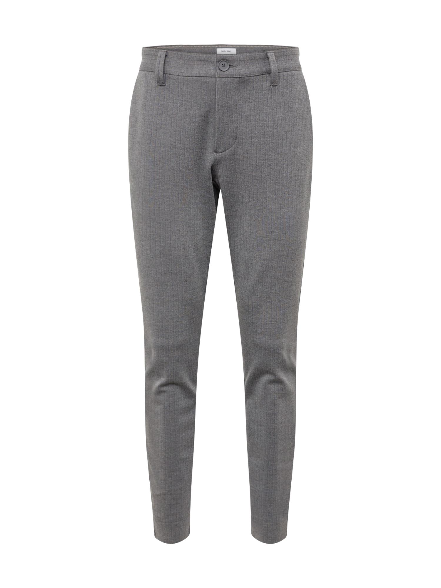 Chino kalhoty onsMARK PANT STRIPE GW 3727 NOOS šedá Only & Sons