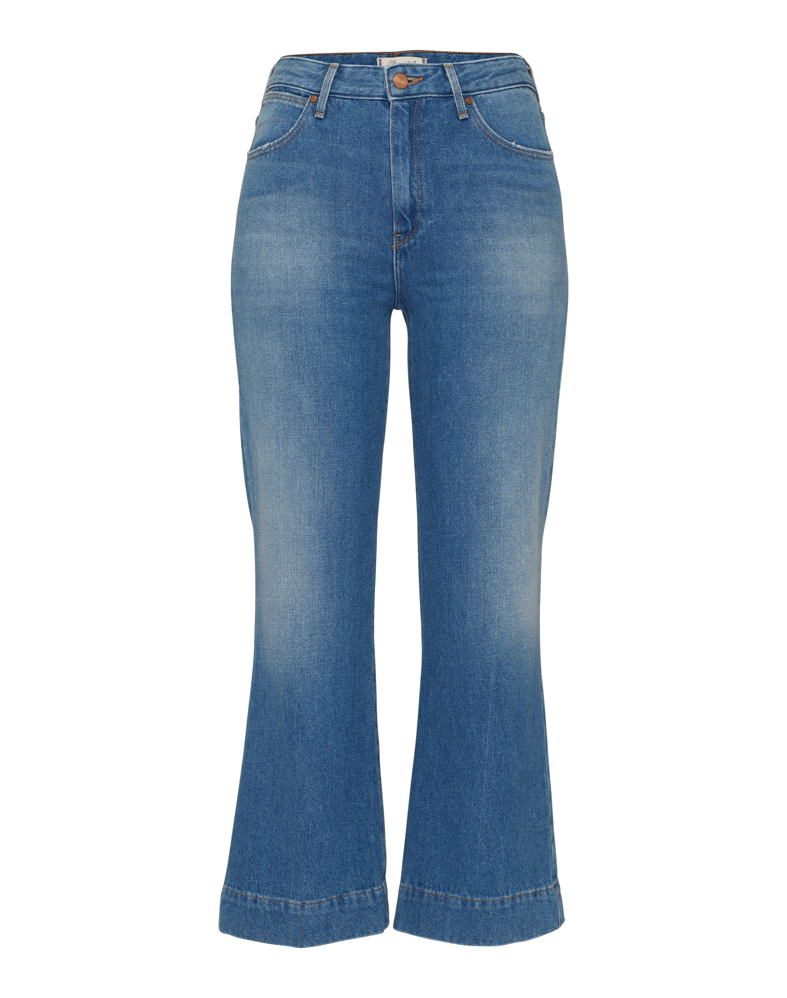 WRANGLER Dames Jeans Cropped Flare blue denim