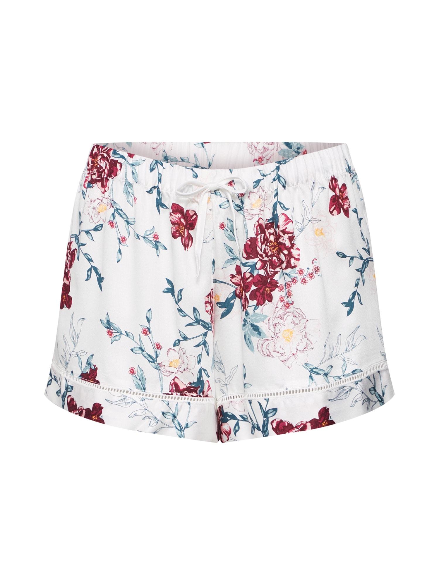 Pyžamové kalhoty Woven Floral bílá Hunkemöller