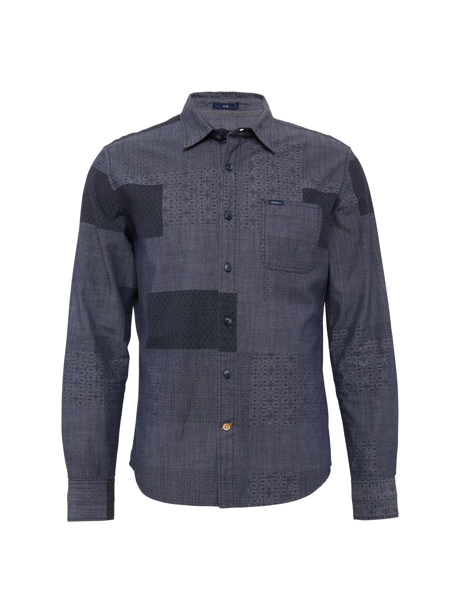 Pepe Jeans Heren Overhemd IMPERIA blauw