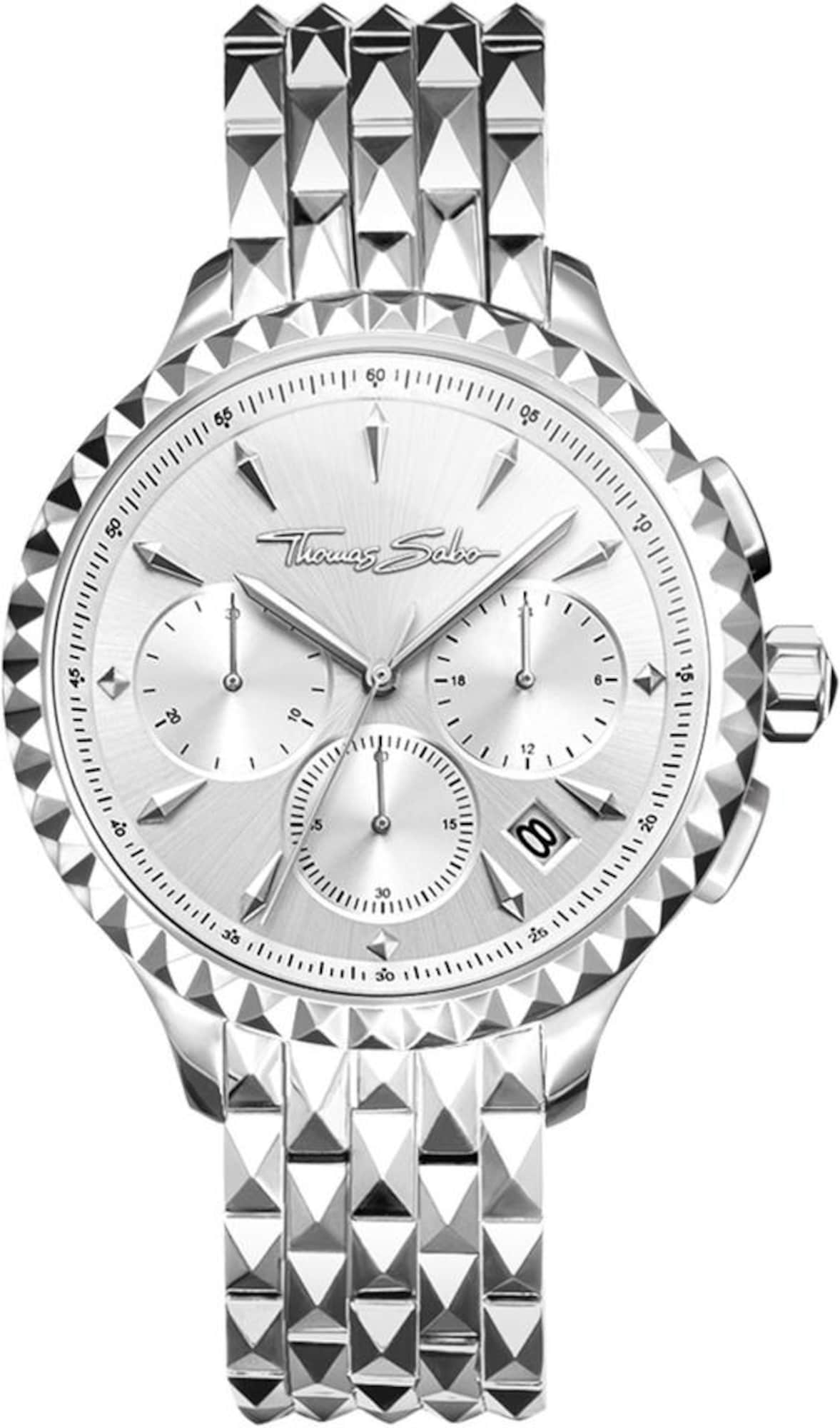 Chronograph 'Rebel At Heart, WA0345-201-201-38' | Uhren > Chronographen | Silber | Thomas Sabo