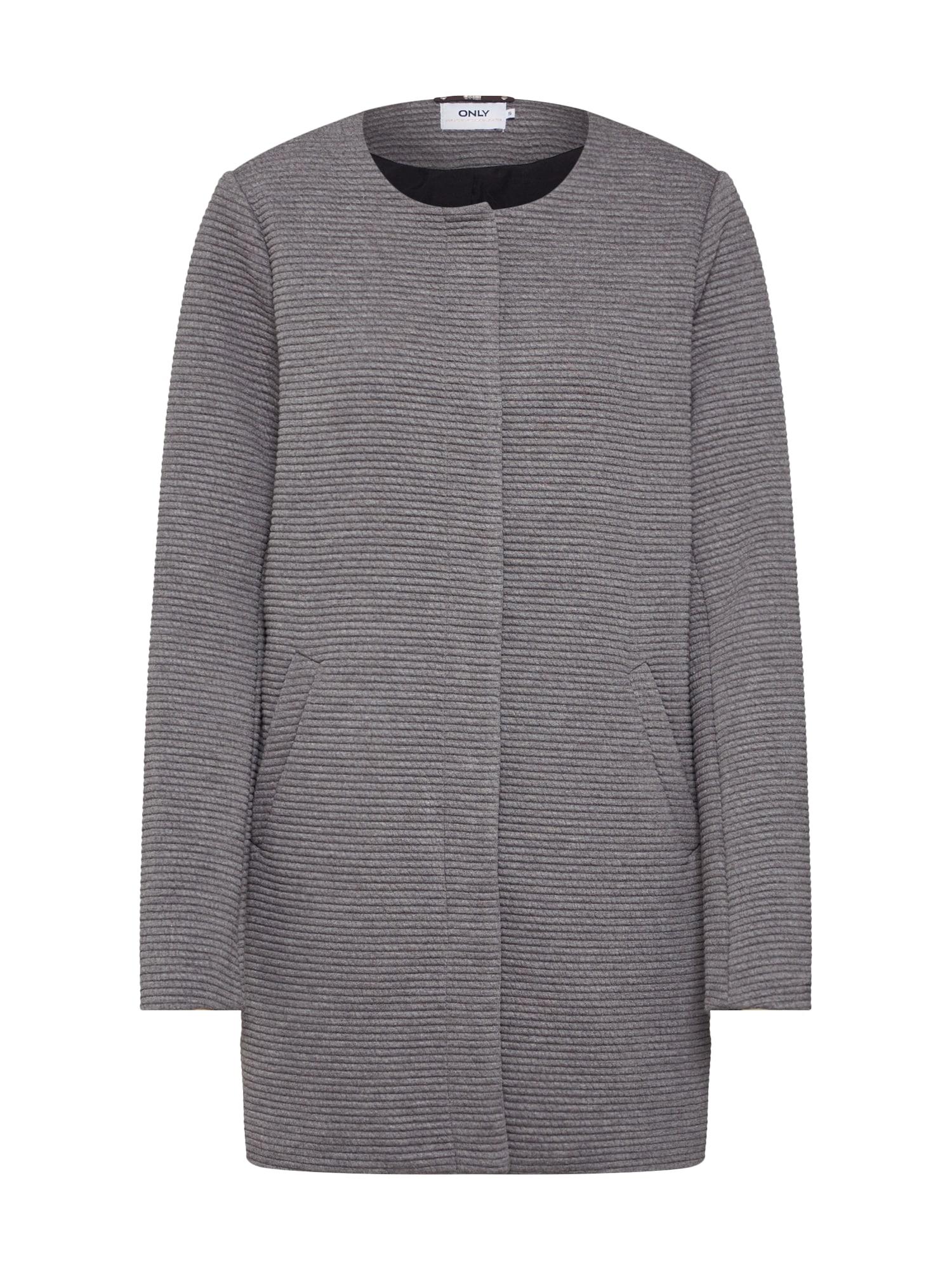 Přechodný kabát Sidney Link Spring šedý melír ONLY