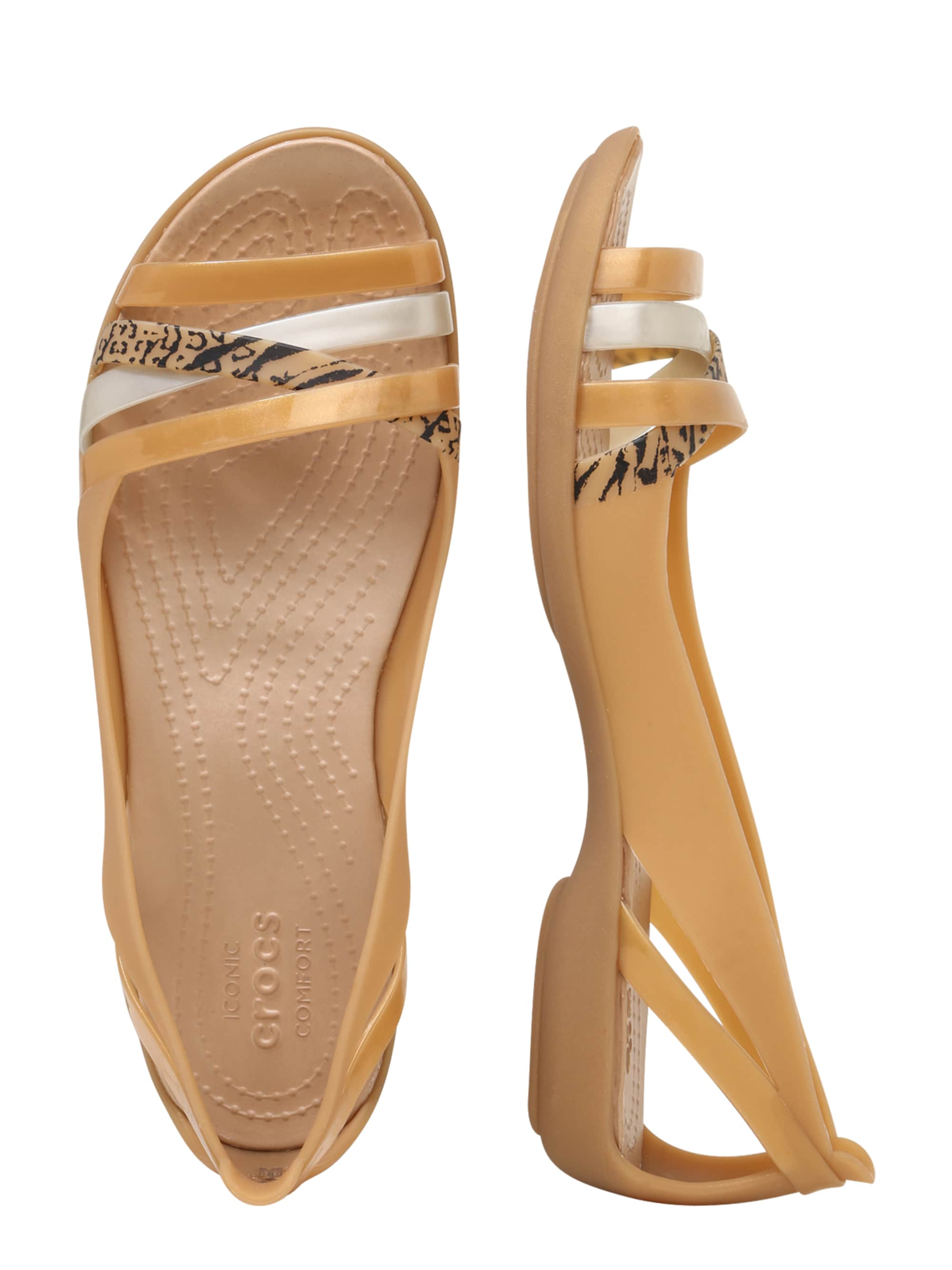 Crocs Pantofle 'Isabella'  brązowy / złoty