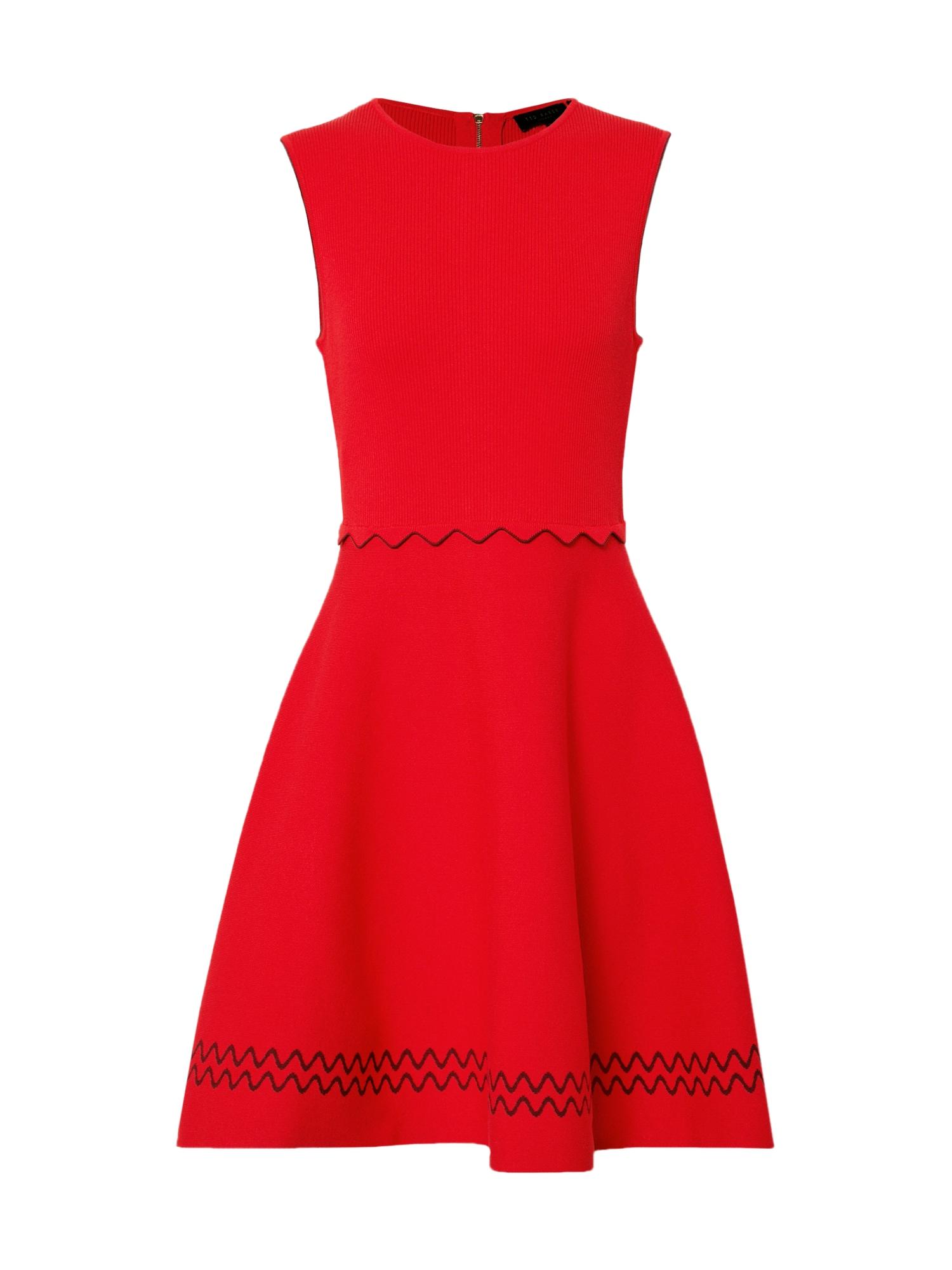 Ted Baker Pletené šaty 'Cloeei'  červené
