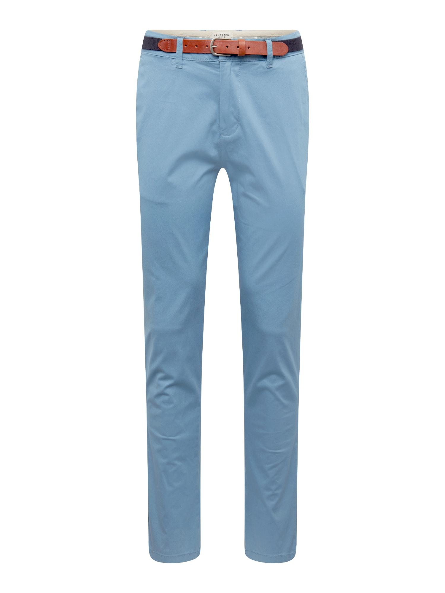 Chino kalhoty Blue Shadow kouřově modrá SELECTED HOMME