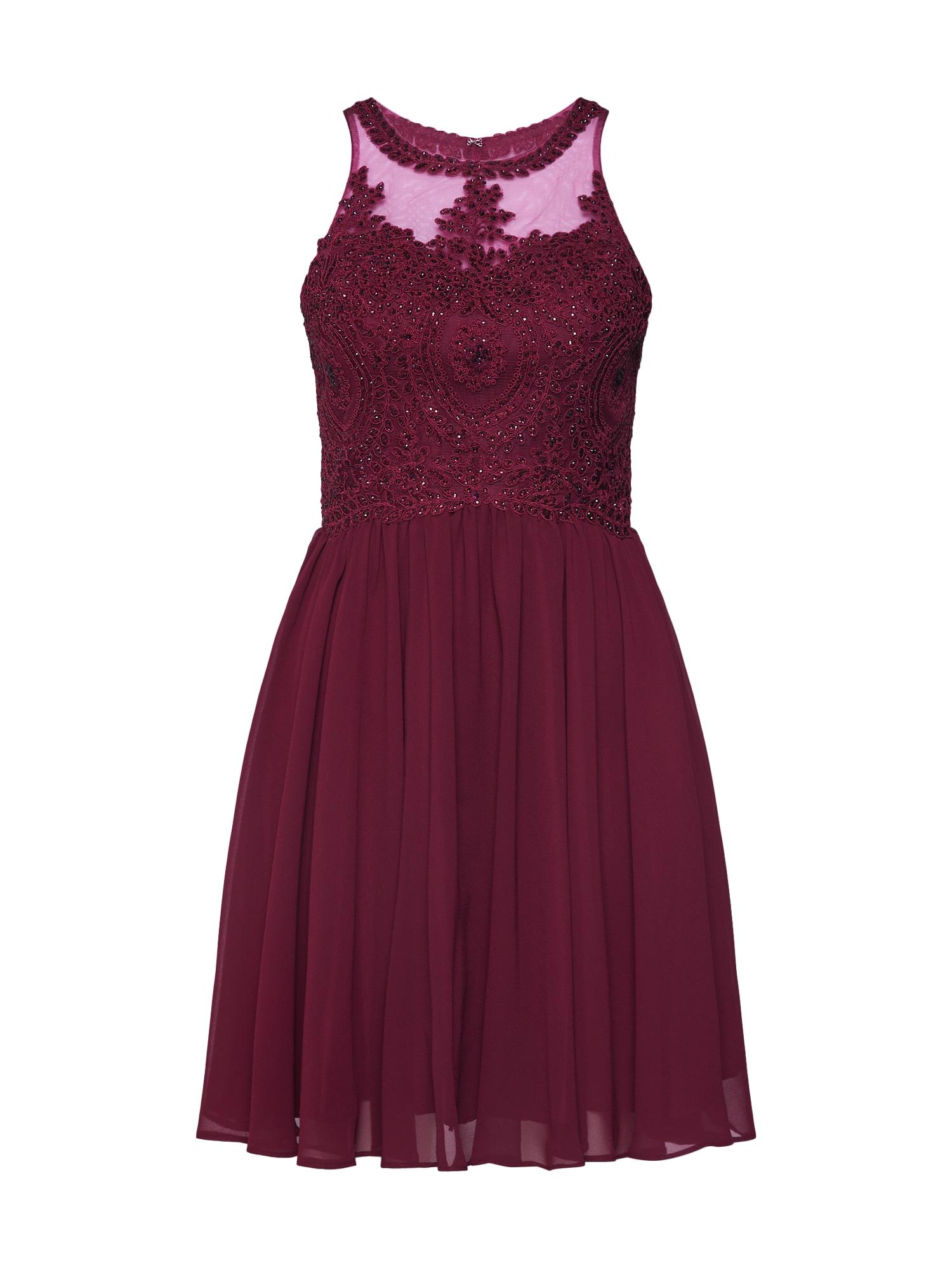 Koktejlové šaty červená třešeň Laona