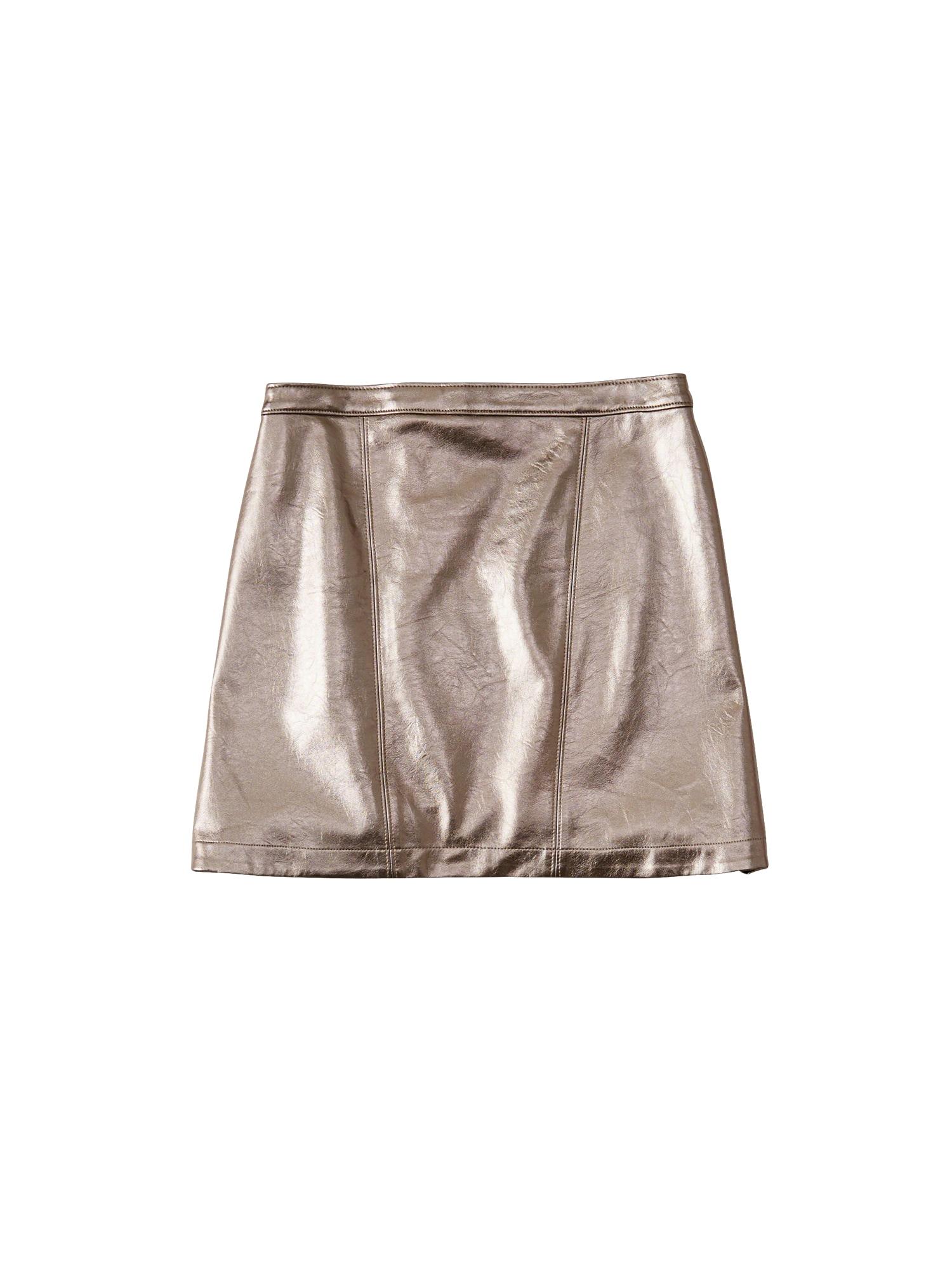 Sukně XM18-METALLIC MINI stříbrná Abercrombie & Fitch