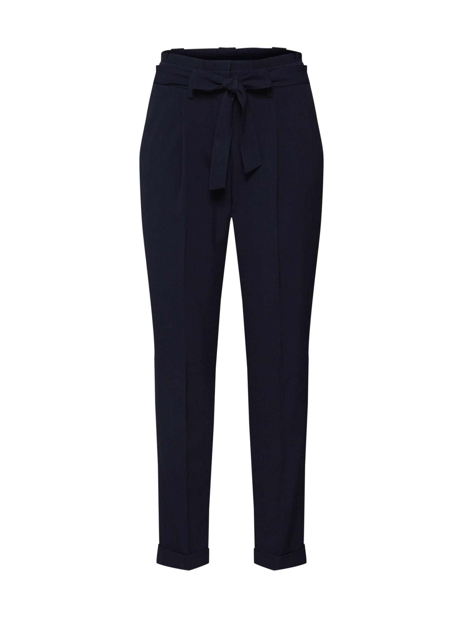 Kalhoty se sklady v pase Enchi tmavě modrá OPUS