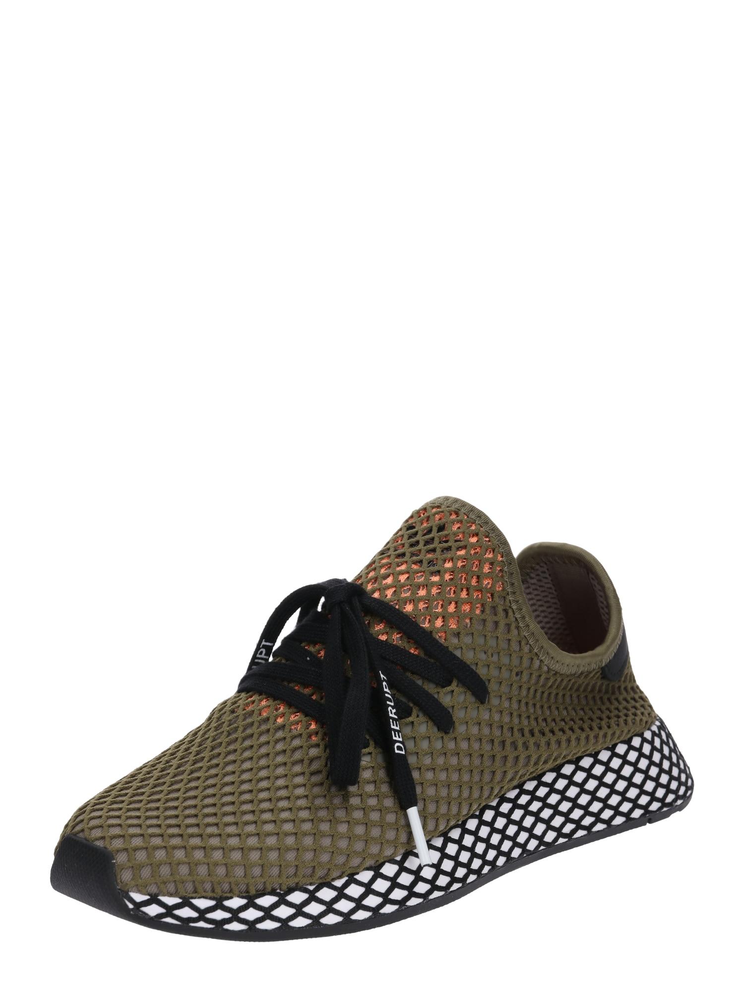 ADIDAS ORIGINALS, Heren Sneakers laag 'Deerupt Runner', olijfgroen / zwart