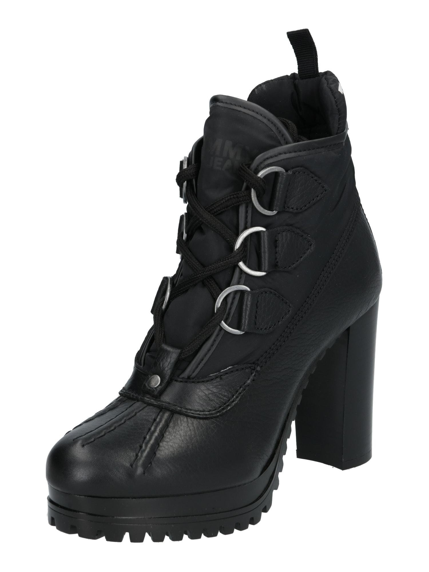 Nízké kozačky PADDED TONGUE HEELED DUCKBOOT černá Tommy Jeans