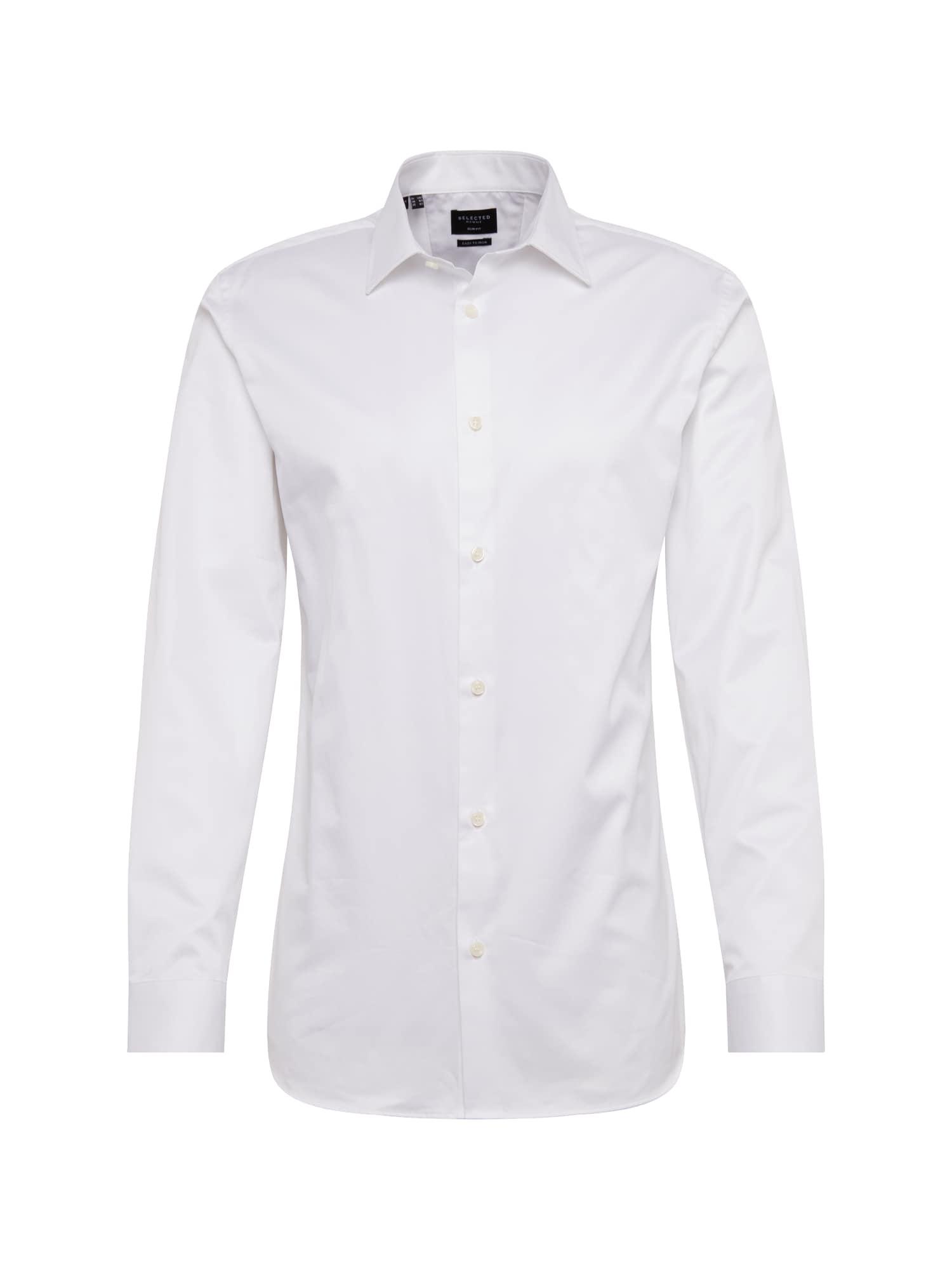 Košile SLHSLIMPEN-PELLE SHIRT LS B NOOS bílá SELECTED HOMME