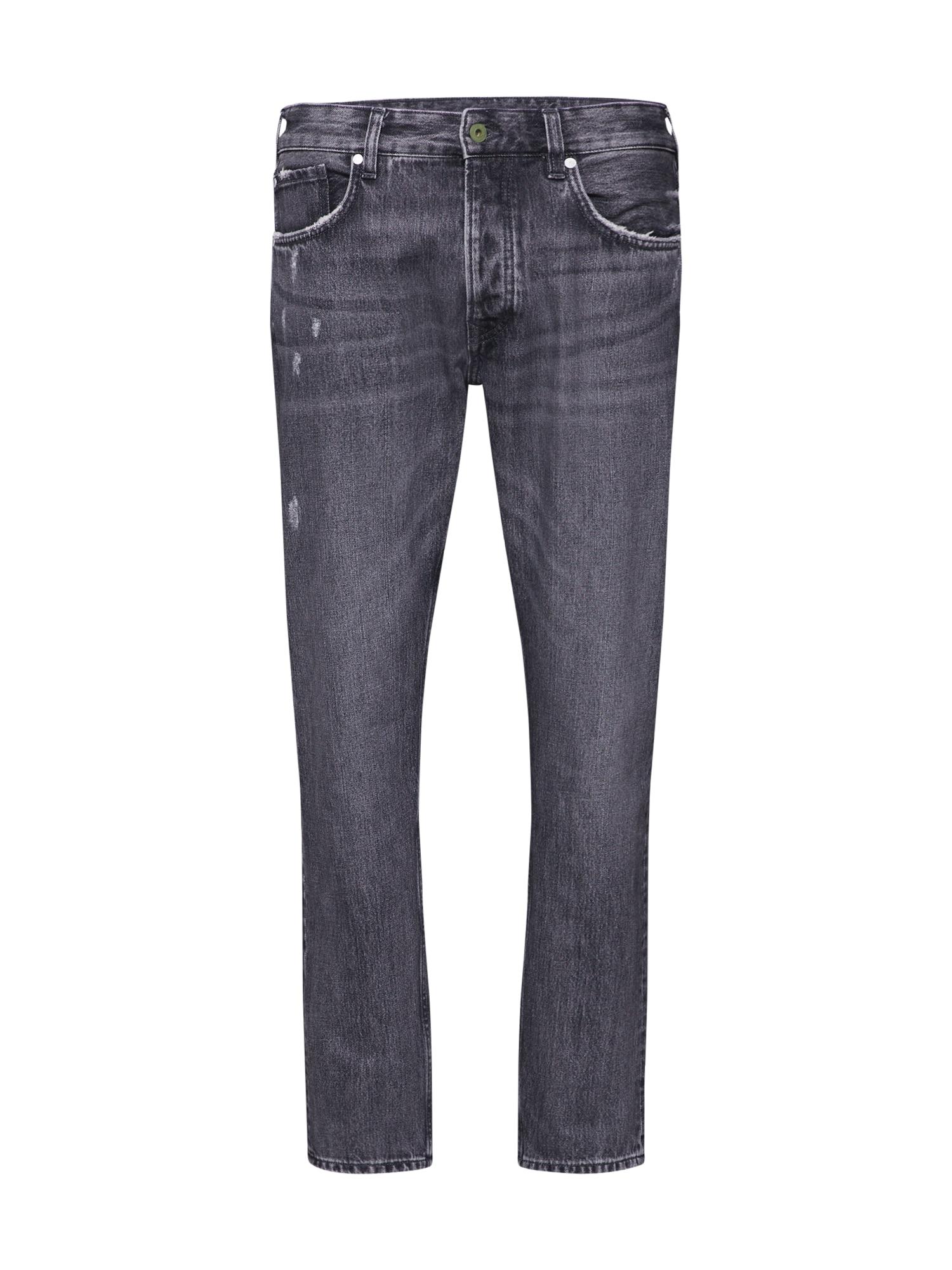Džíny CALLEN černá džínovina Pepe Jeans