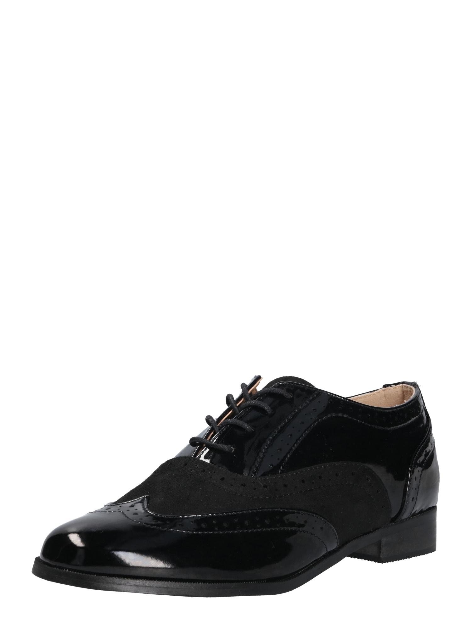 Šněrovací boty GWENNI černá Head Over Heels