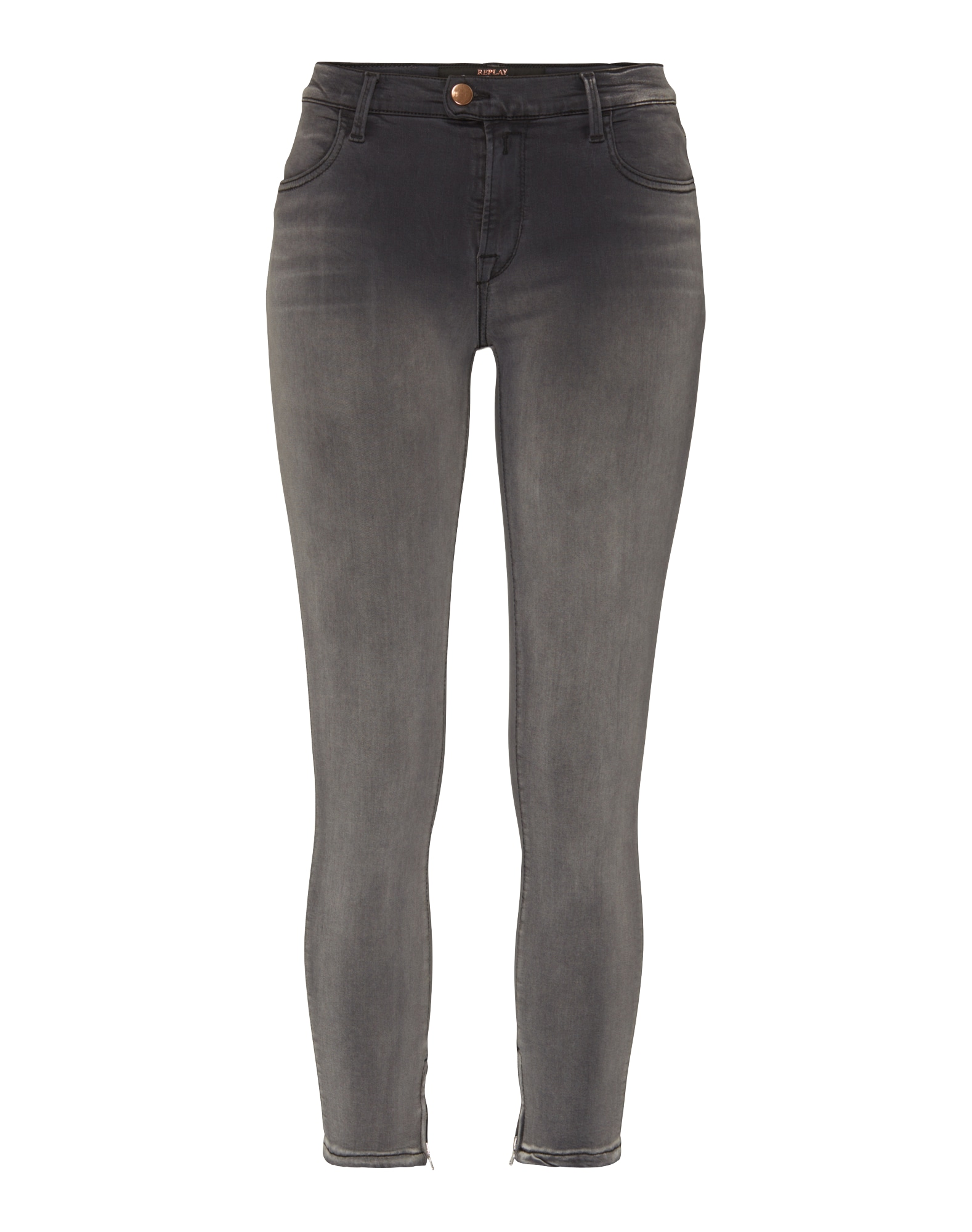 REPLAY Dames Jeans Touch grijs
