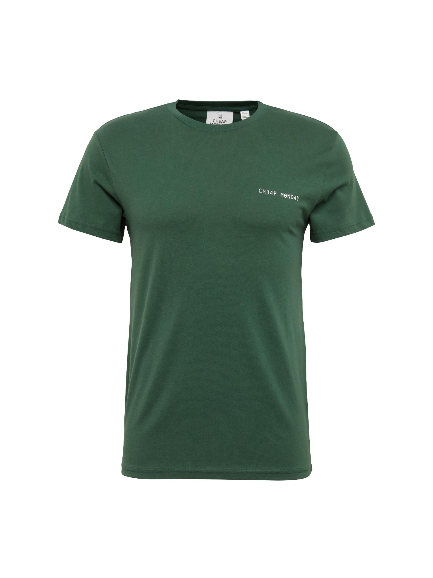 CHEAP MONDAY Heren Shirt Standard tee Security logo groen