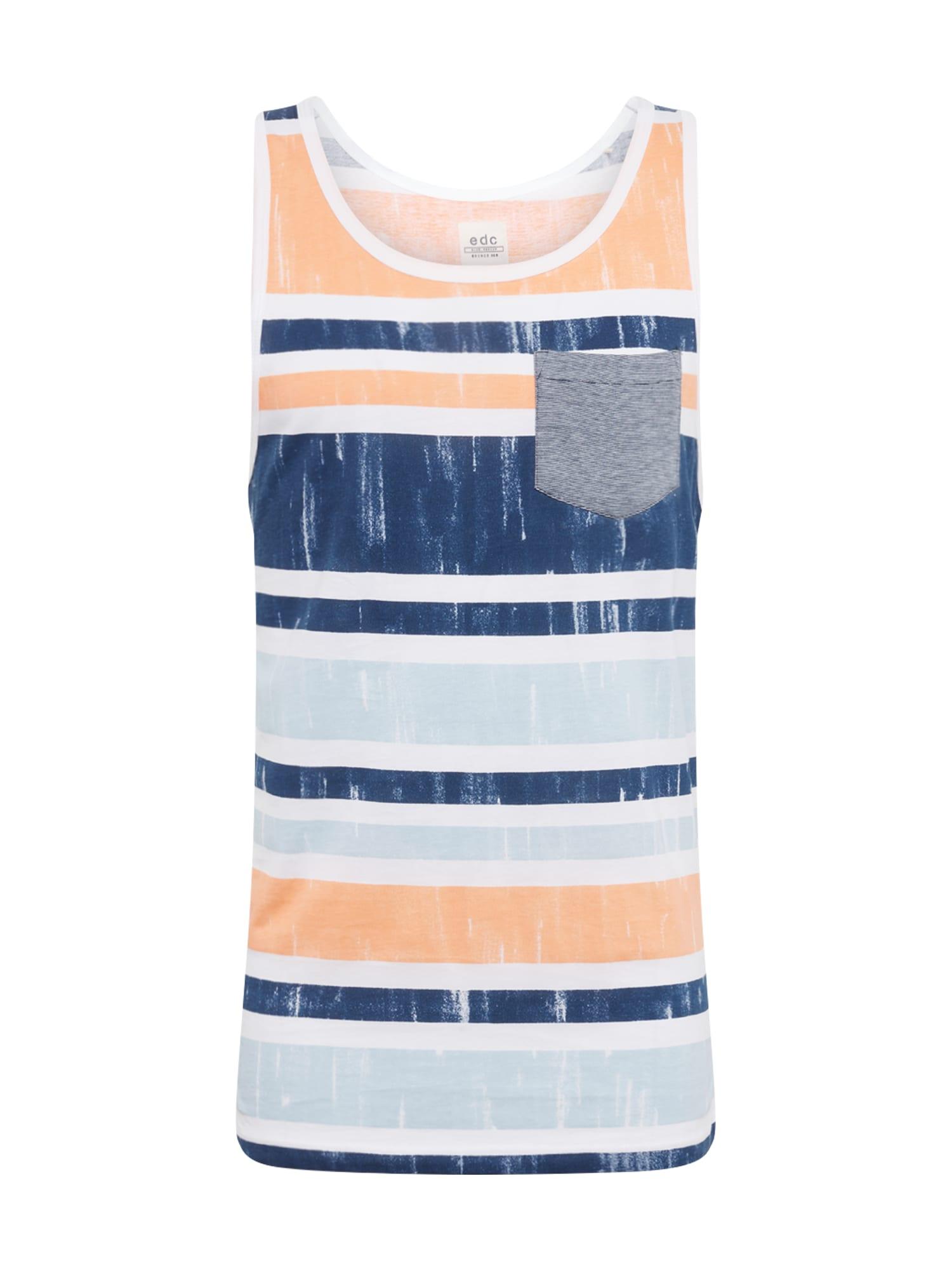Tričko námořnická modř broskvová EDC BY ESPRIT