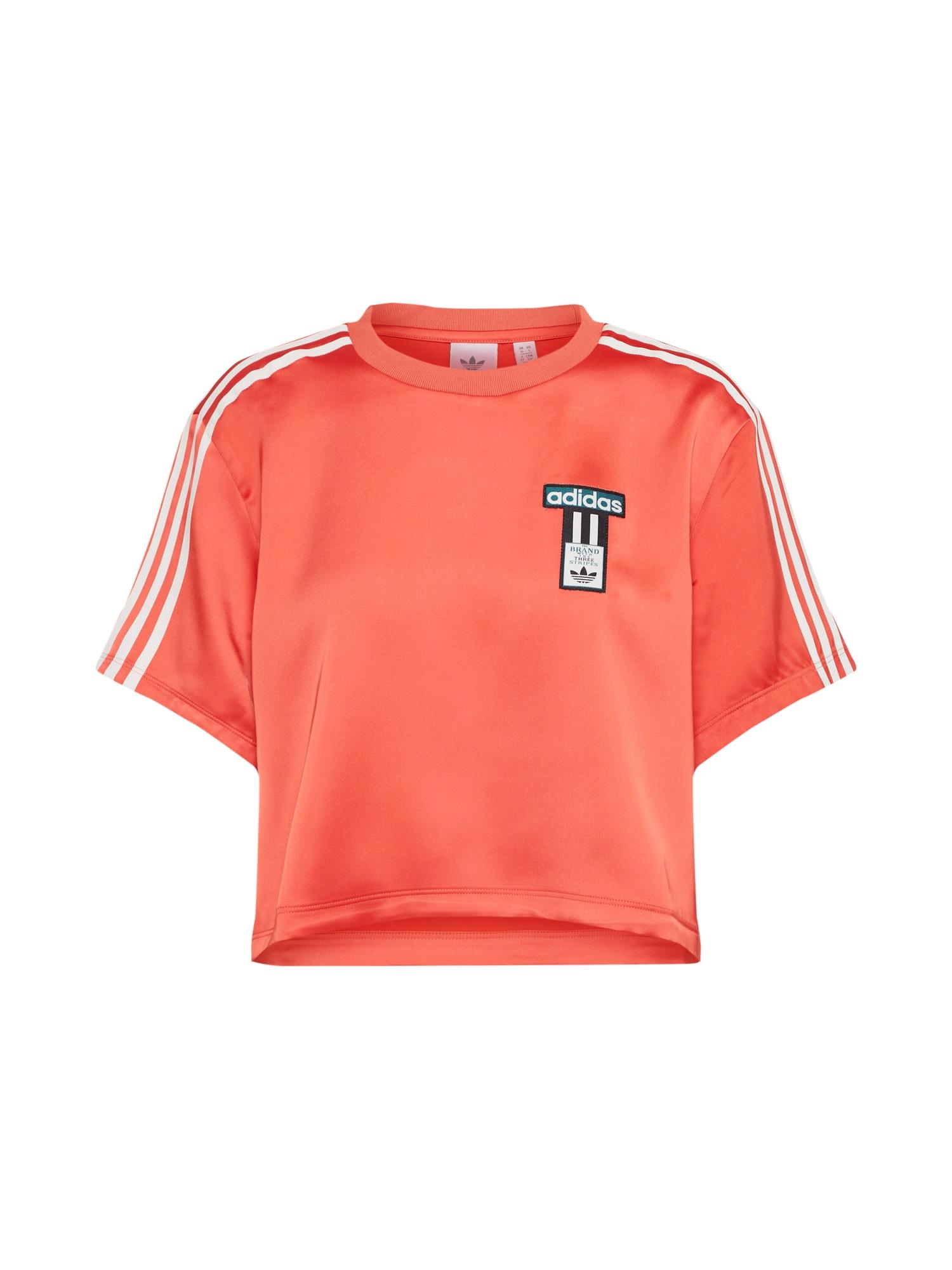 ADIDAS ORIGINALS, Dames Shirt 'ADIBREAK T-SHIRT SATIN', kreeft
