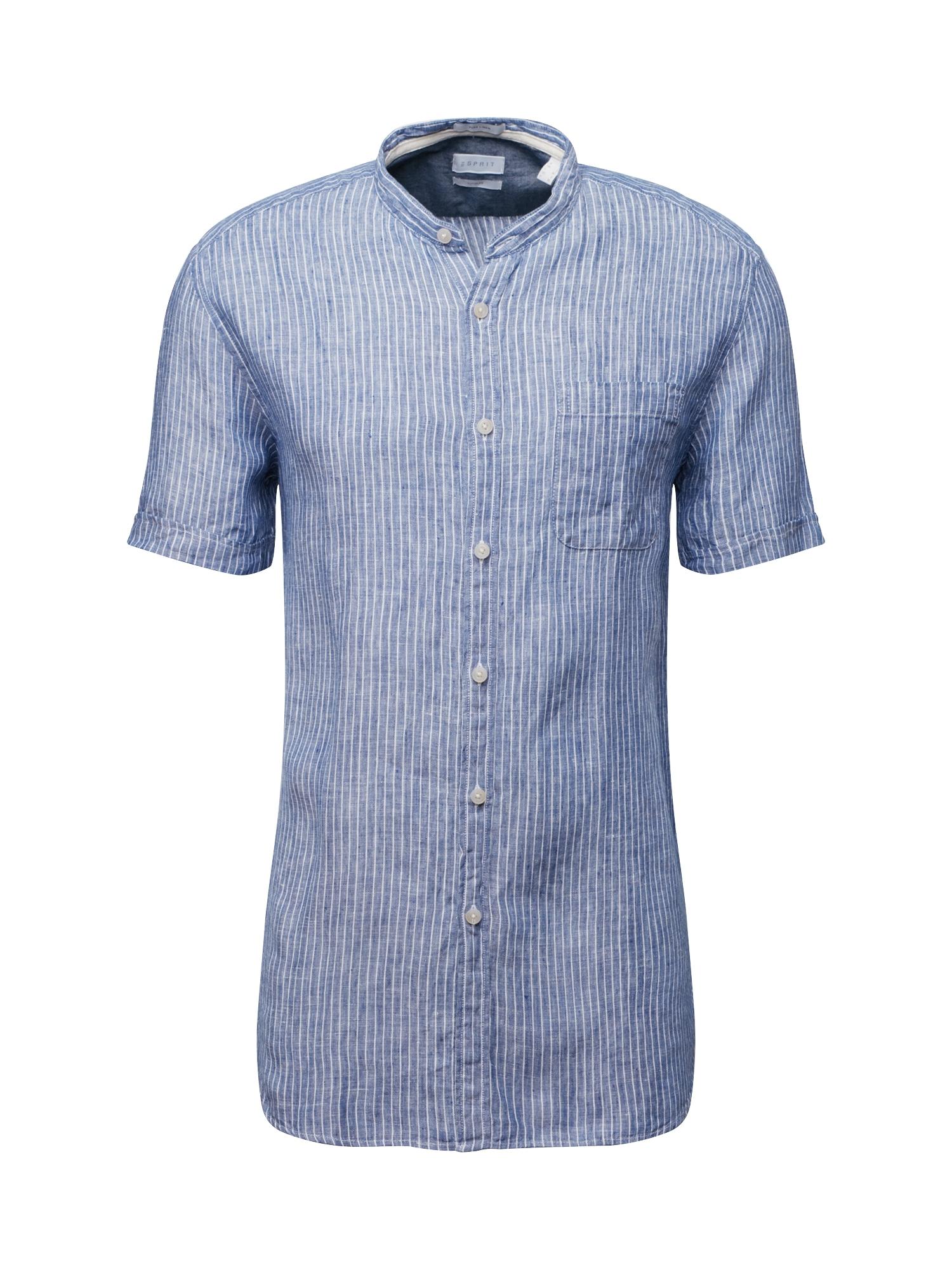 Košile CO LI Stripe sl námořnická modř ESPRIT