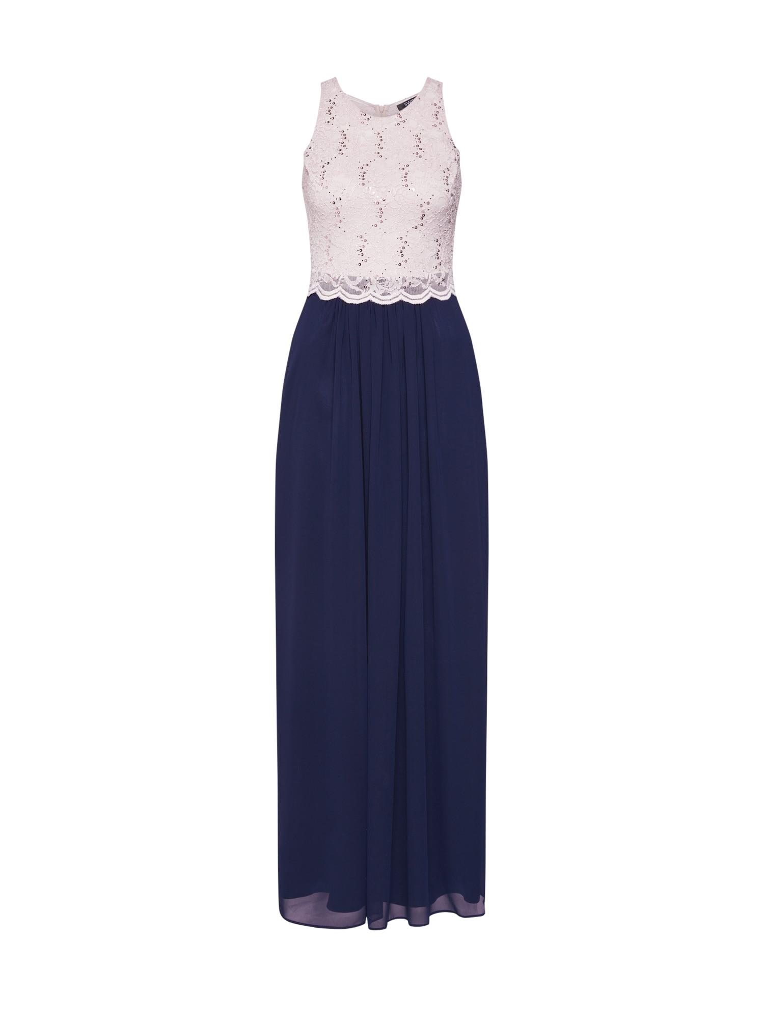 Společenské šaty marine modrá růžová SWING