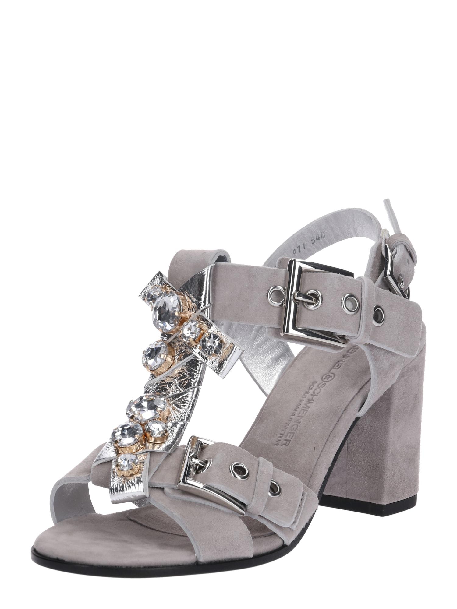 Páskové sandály Gigi stříbrně šedá offwhite Kennel & Schmenger