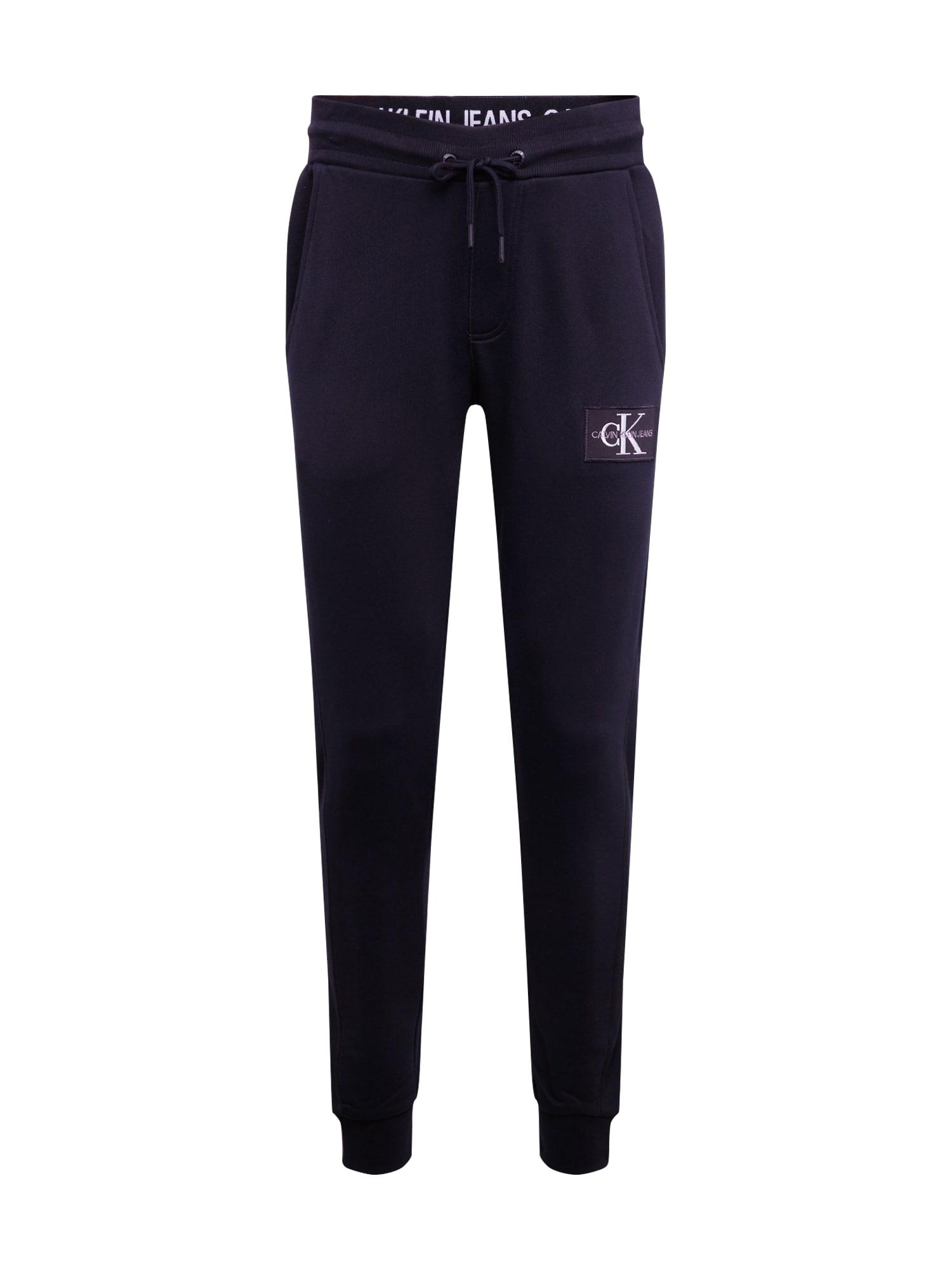 Calvin Klein Jeans Nohavice 'MONOGRAM PATCH HWK PANT'  čierna
