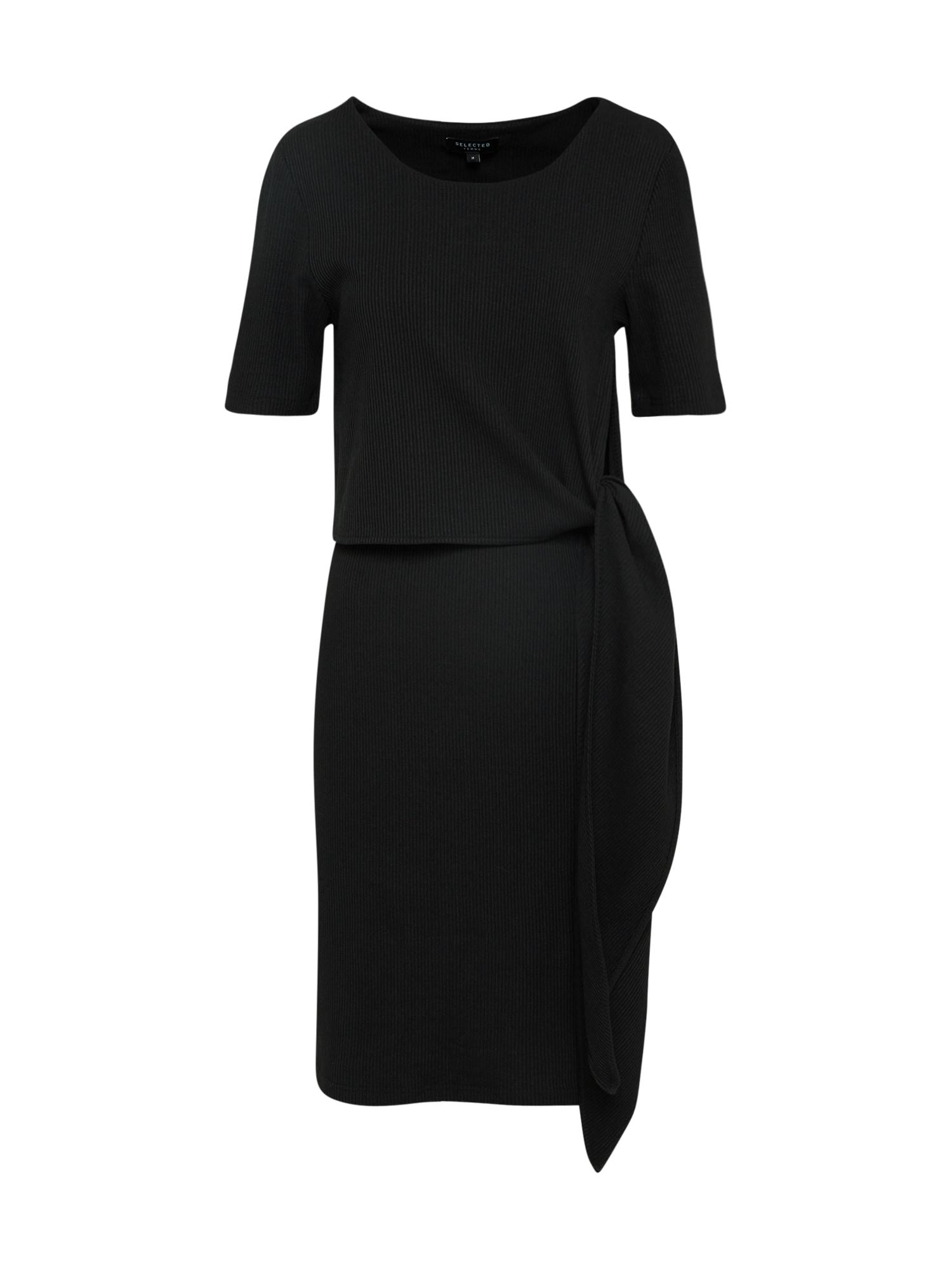 Koktejlové šaty DIMA černá SELECTED FEMME