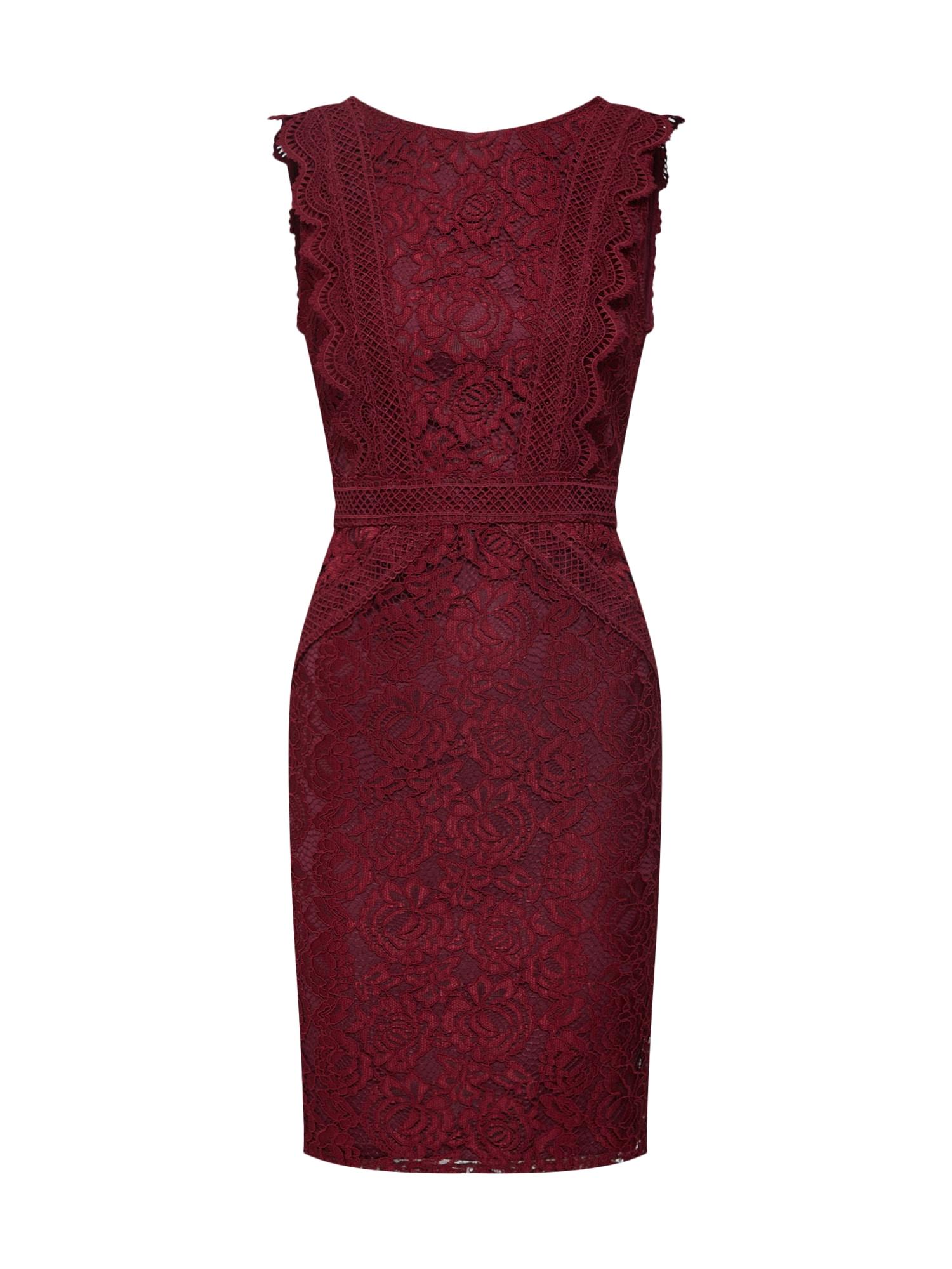 Pouzdrové šaty VANIA merlot TFNC