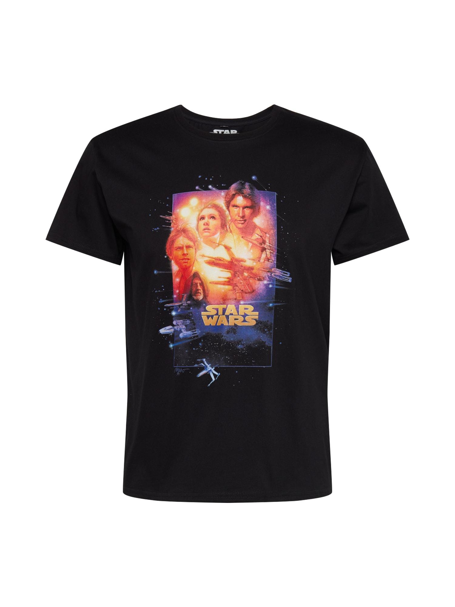 Mister Tee Tričko 'Star Wars Poster Episode IV'  mix barev / černá