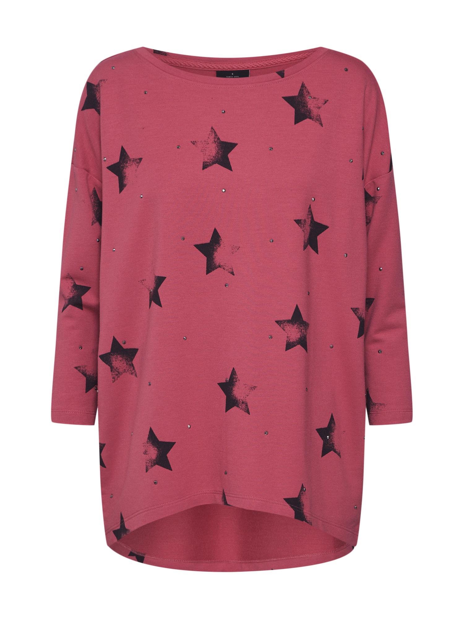 Mikina onlIRENE STAR 34 O-NECK SWT růžová ONLY