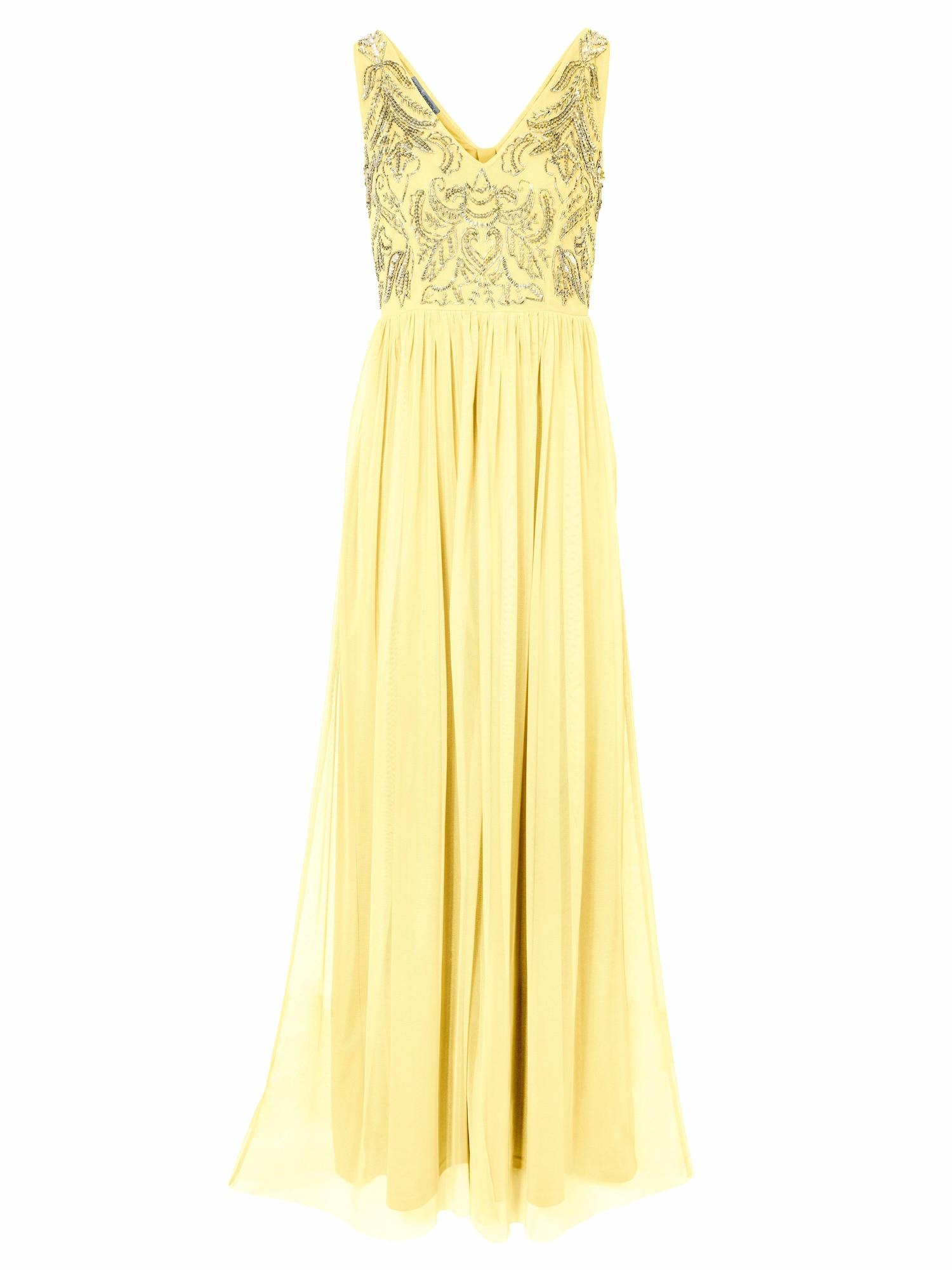 Společenské šaty žlutá Heine