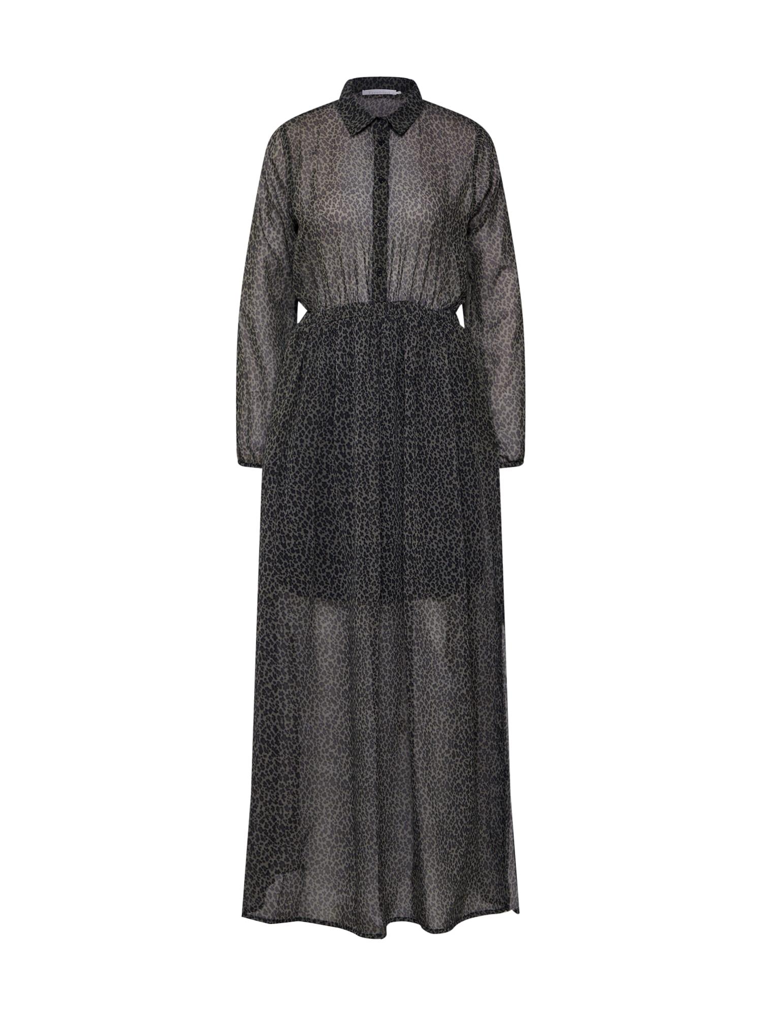 Košilové šaty olivová černá Freebird