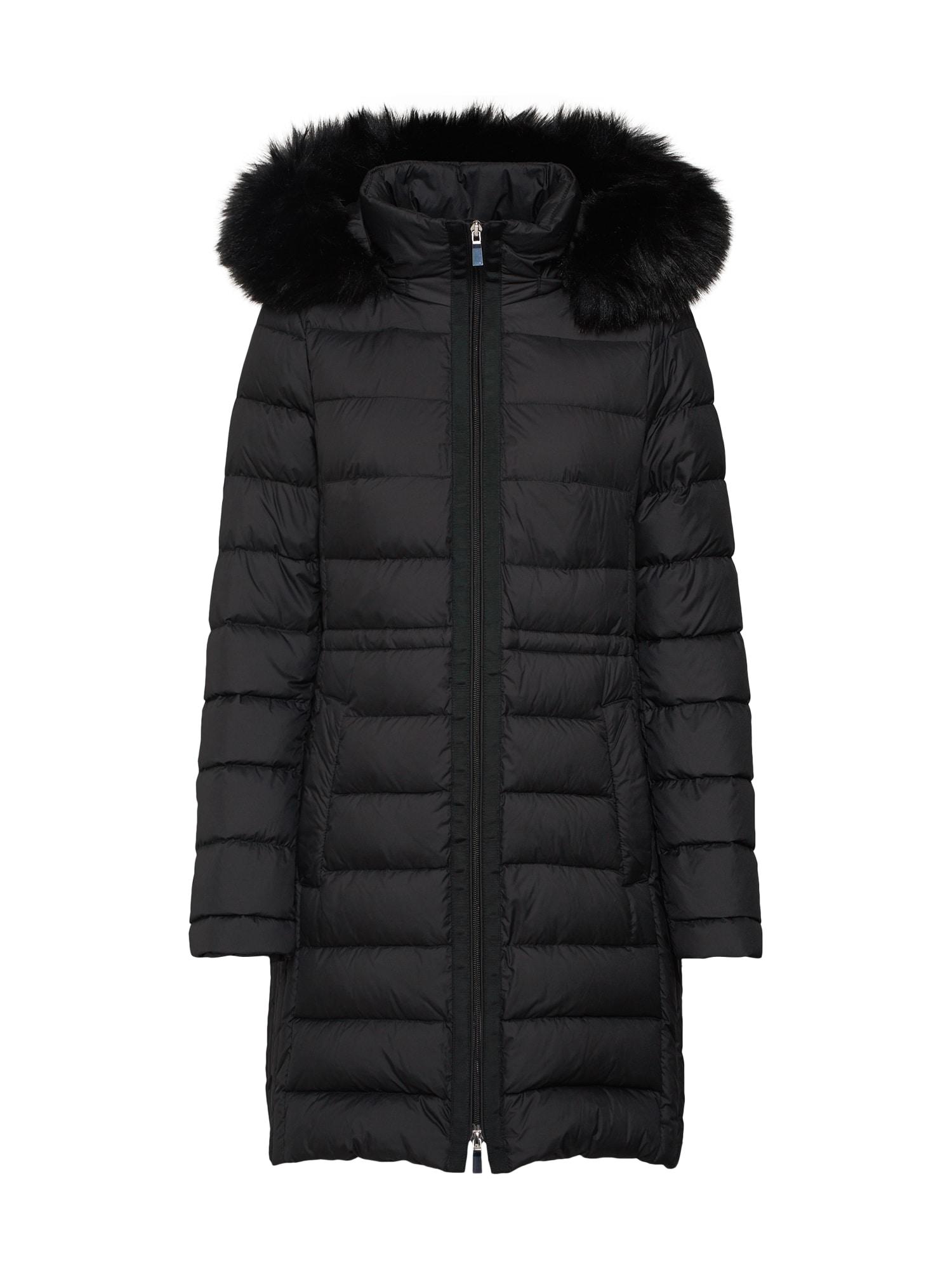 Přechodný kabát černá S.Oliver BLACK LABEL
