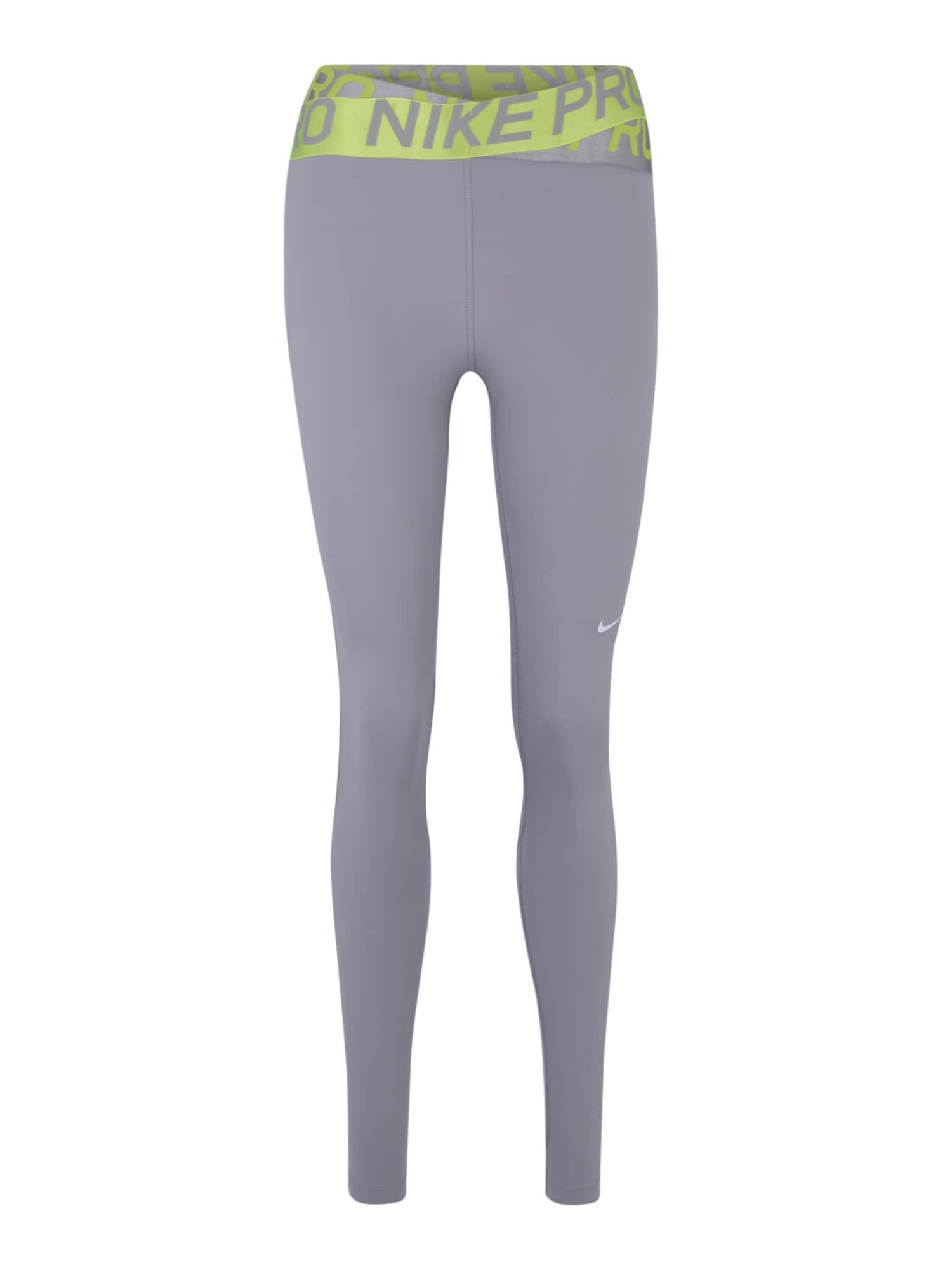 Sportovní kalhoty šedá limetková NIKE