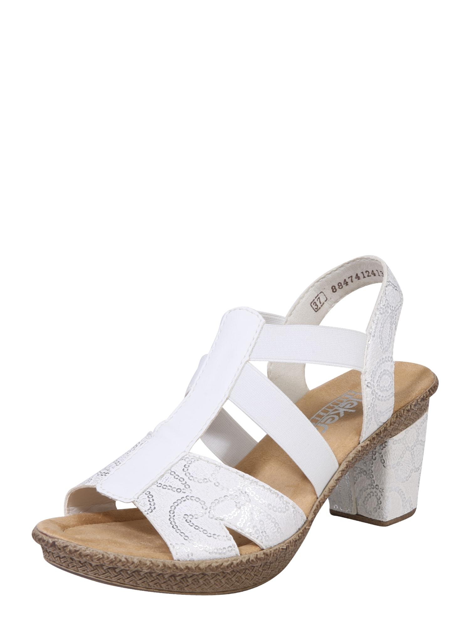 Sandály stříbrná bílá RIEKER