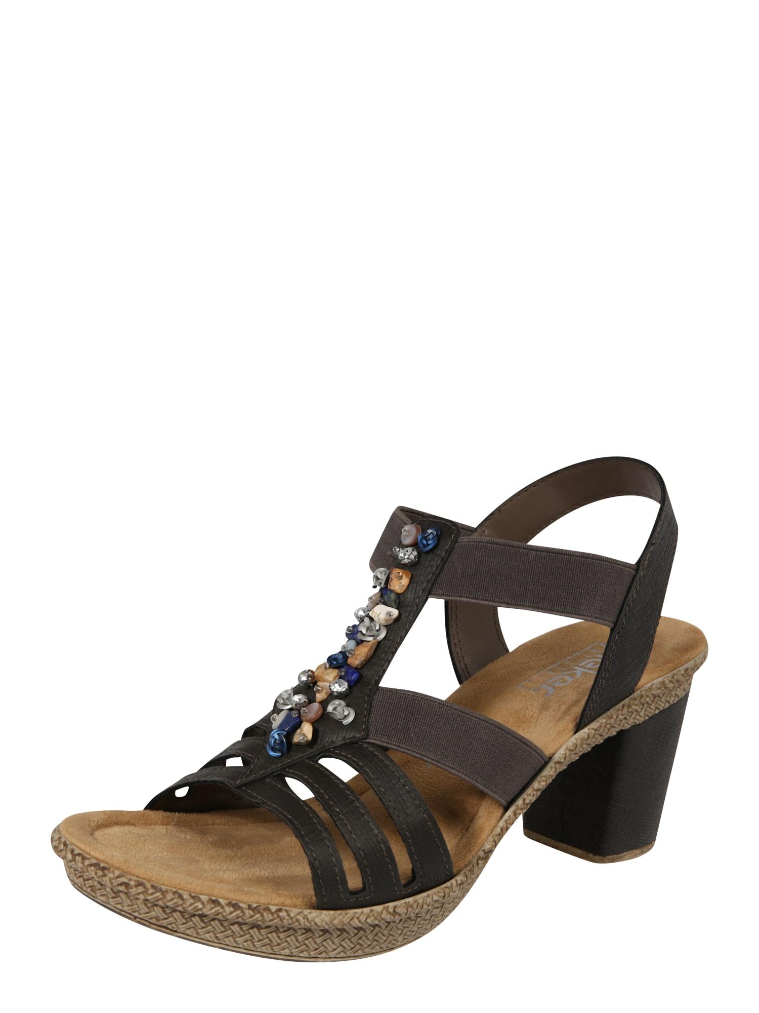 Sandály tmavě hnědá RIEKER