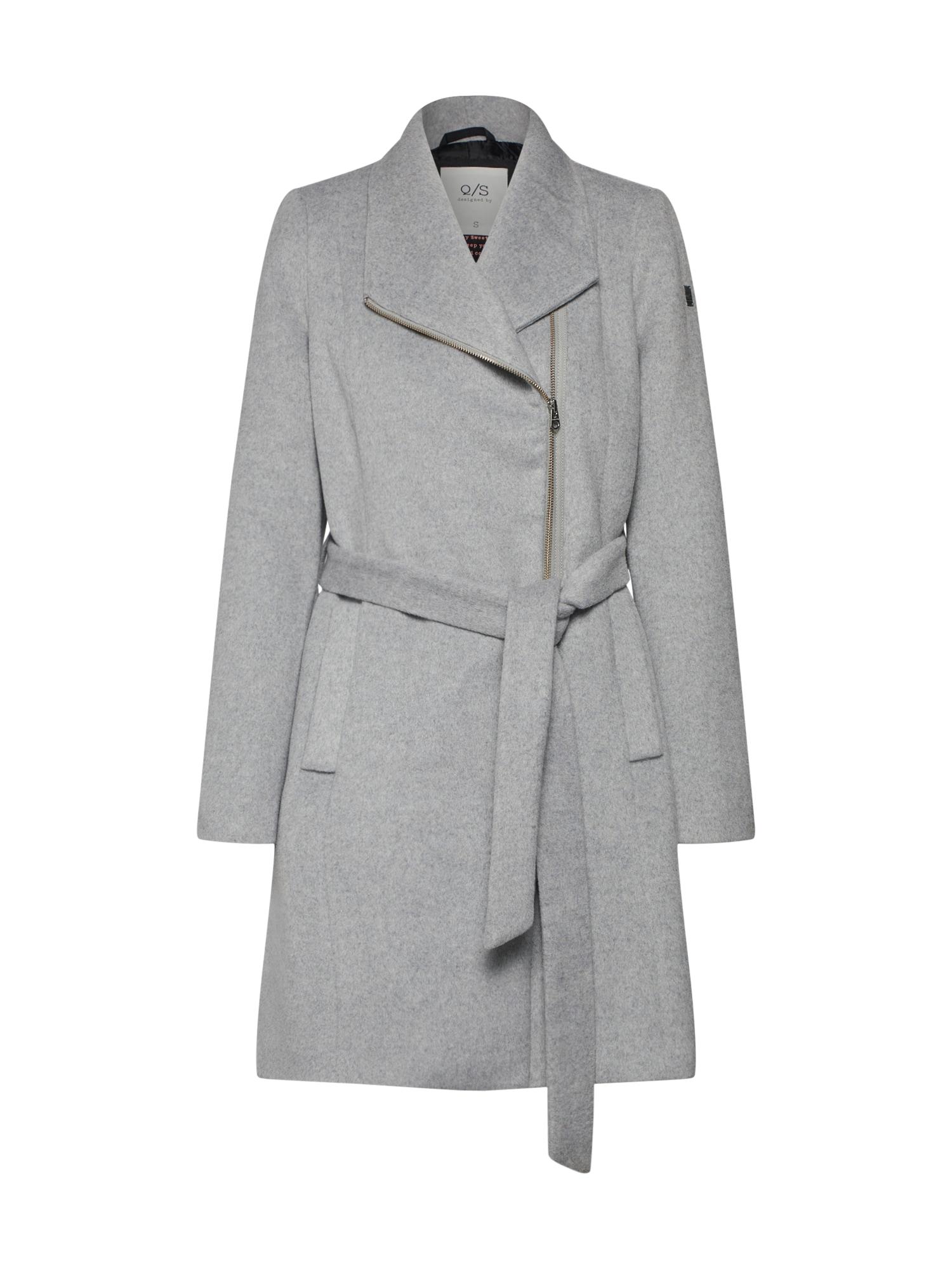 QS Designed By Přechodný kabát světle šedá Q/S Designed By