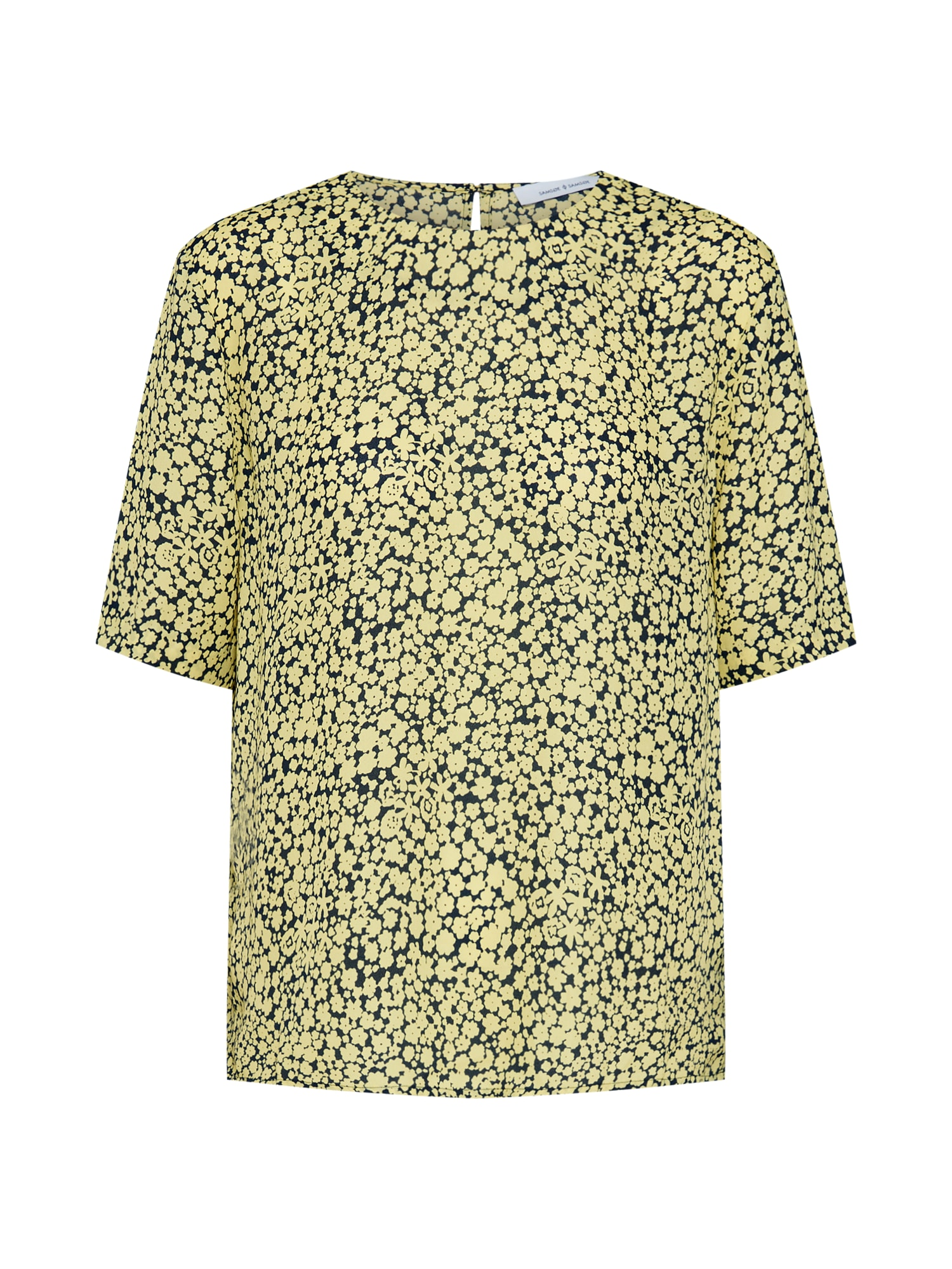 Tričko Amabel žlutá černá Samsoe & Samsoe