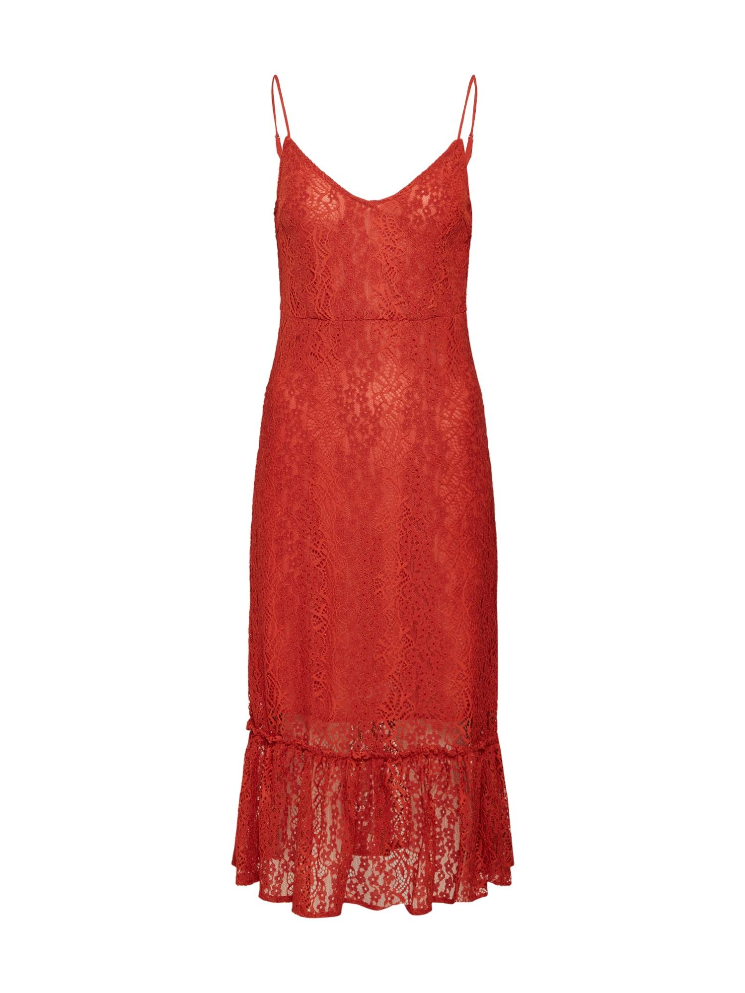 Koktejlové šaty červená VILA