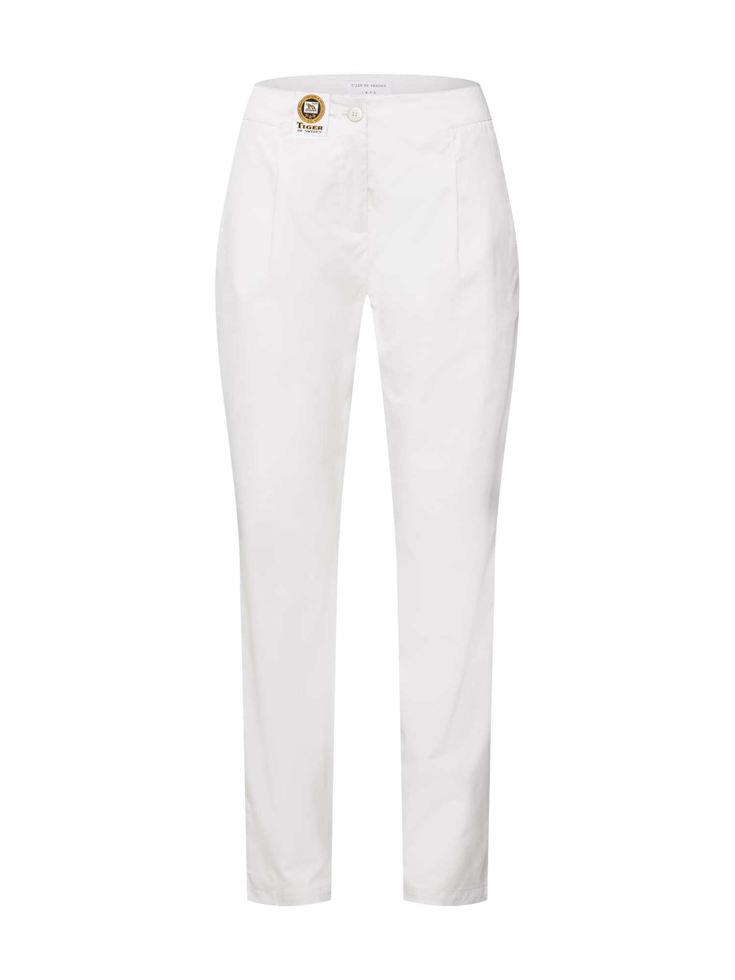Kalhoty se sklady v pase ARA krémová Tiger Of Sweden